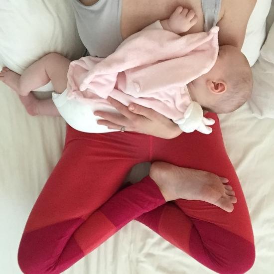 Sleep, meditate, put your legs up the wall—rest when your cherub sleeps!