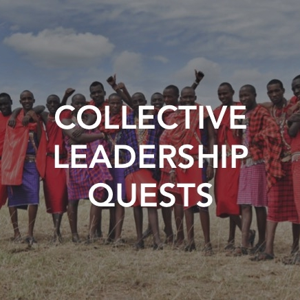 Collective Leadership Quests are workshops that prepare leaders across teams and organizations for substantive collaboration and collective action:   1. Fostering connected identity among teams and leaders  2. Aligning different agendas around a shared intention  3. Developing a strategy for collective action and scaled impact