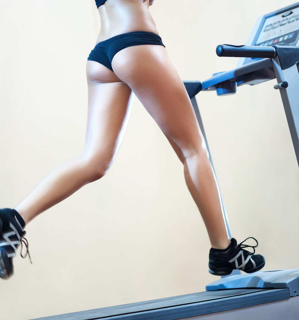 Interval running for cellulite removal