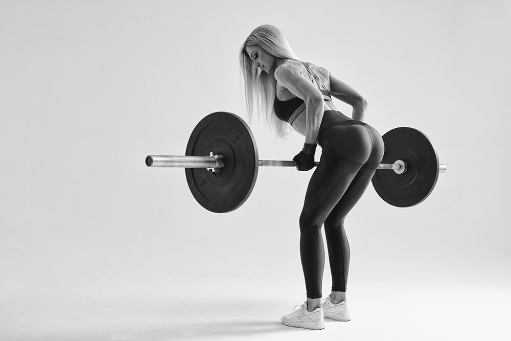 Working on the gluteus maximus internally, for non-surgical bum lifting