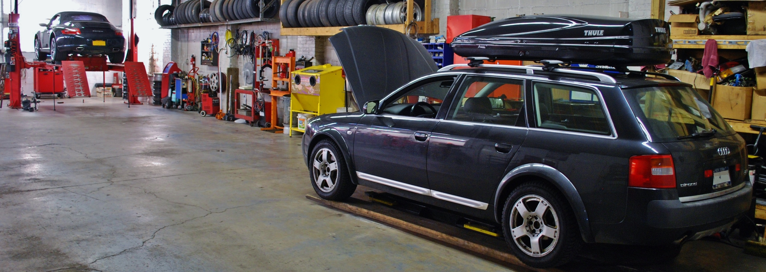 Allroad and cab in shop.jpg