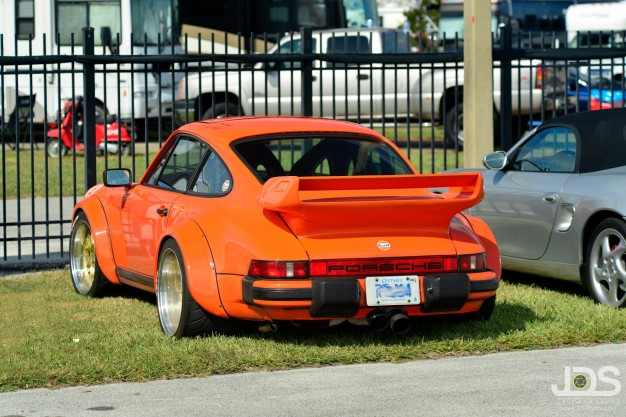 The 911 Turbo in, er, sunnier times in Daytona, just a few days ago.
