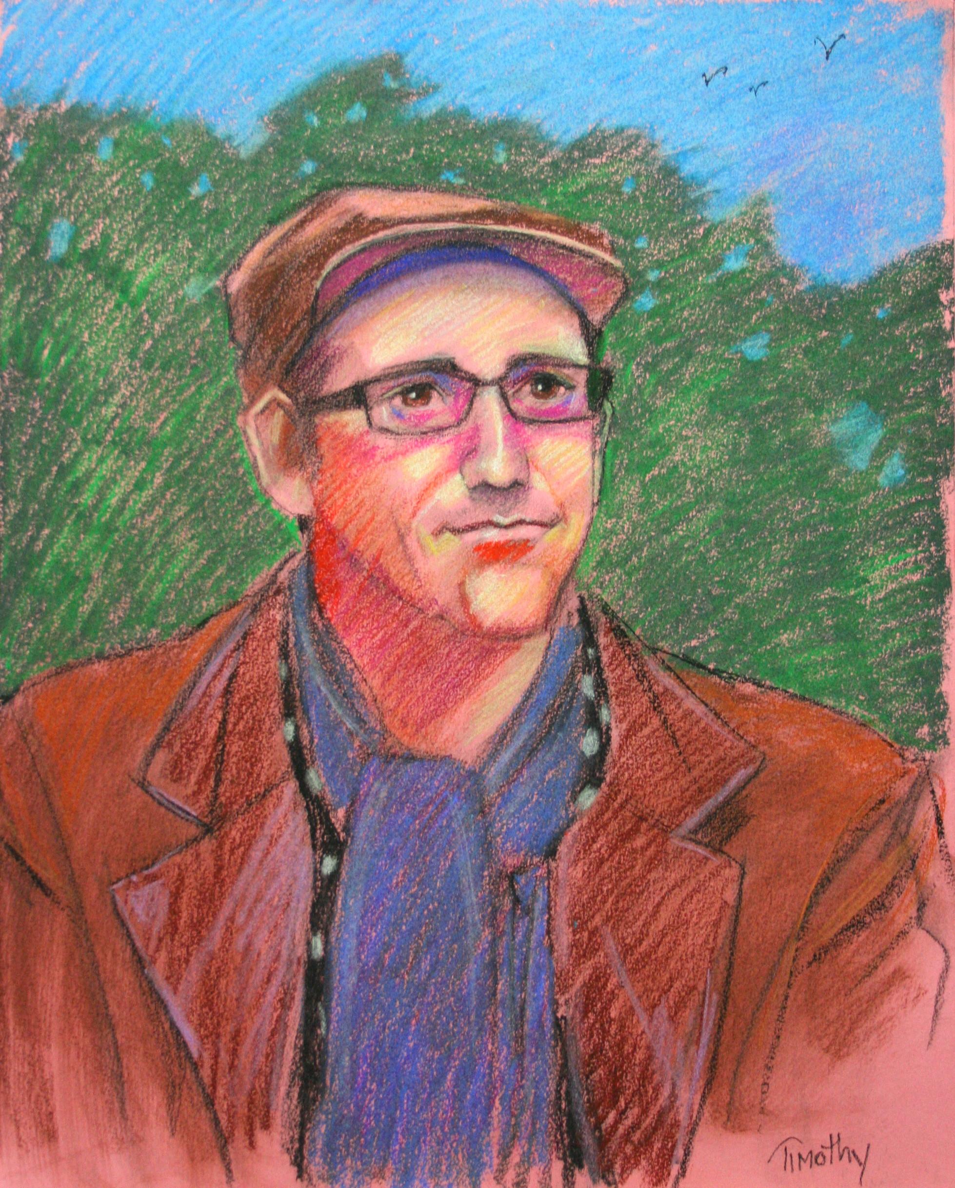 Tim Herron did this 3-hour pastel drawing.