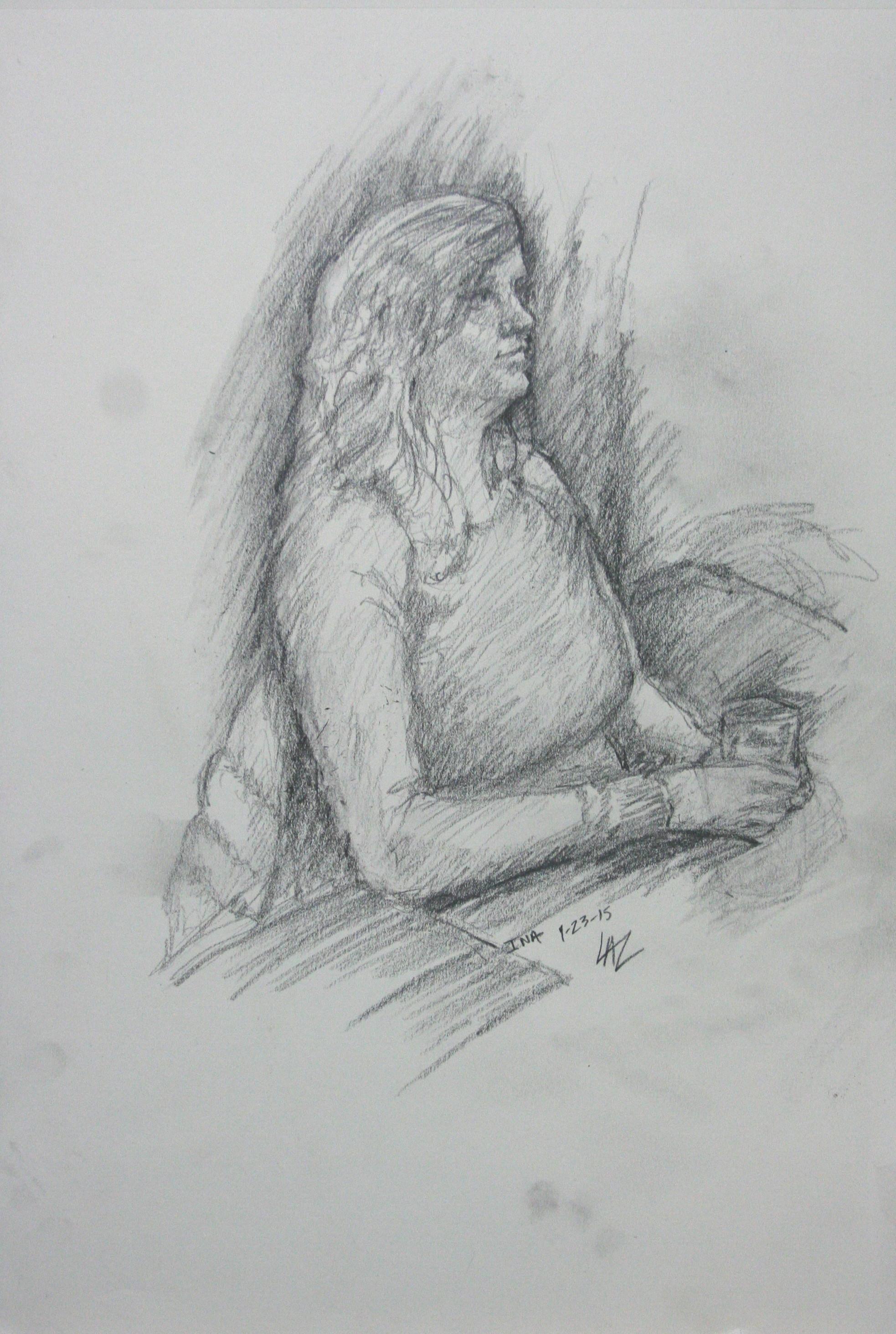 Laszlo Gyorki did this 3-hour drawing.