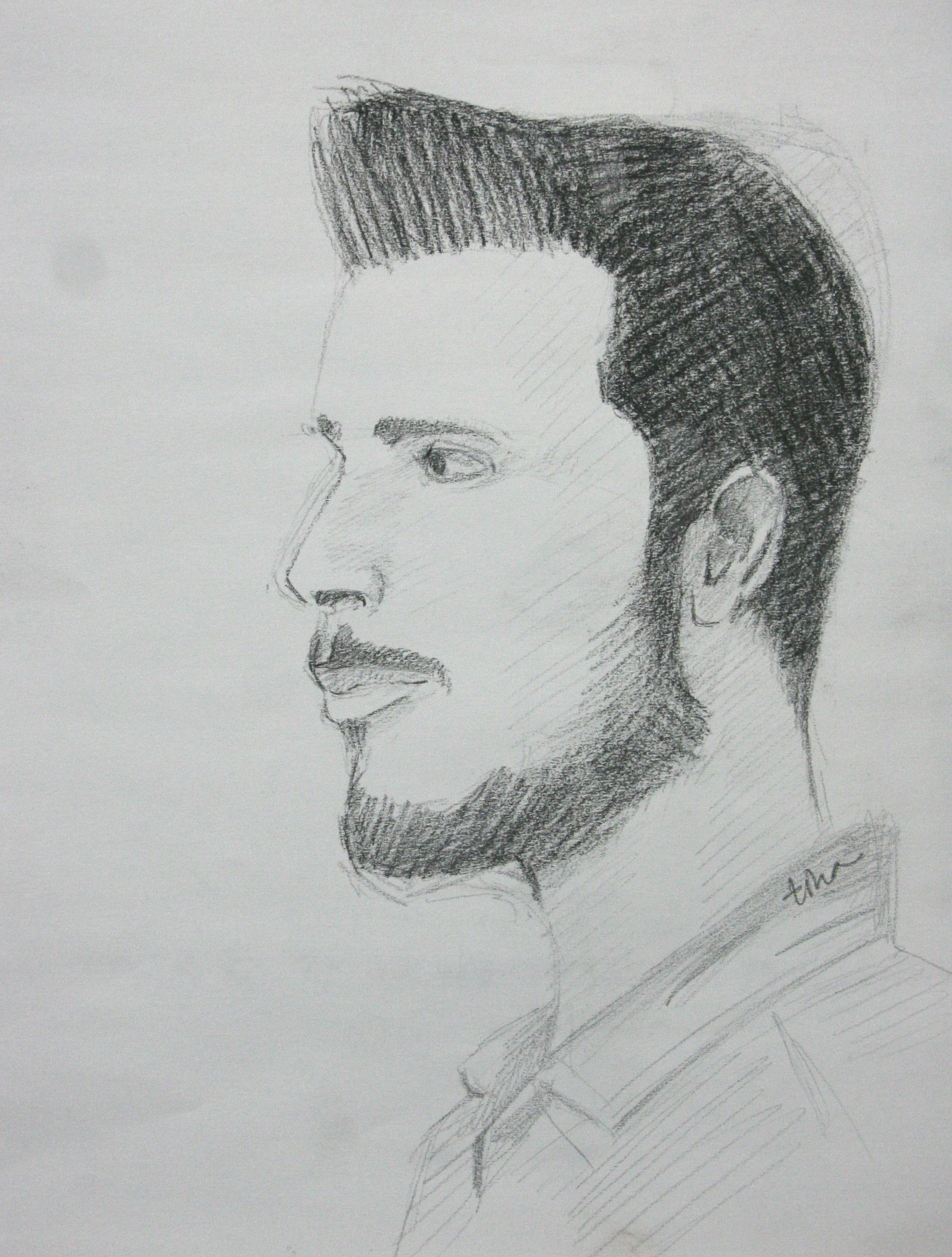 Christine Noetzel did this hour drawing of Miguel Ocasio.