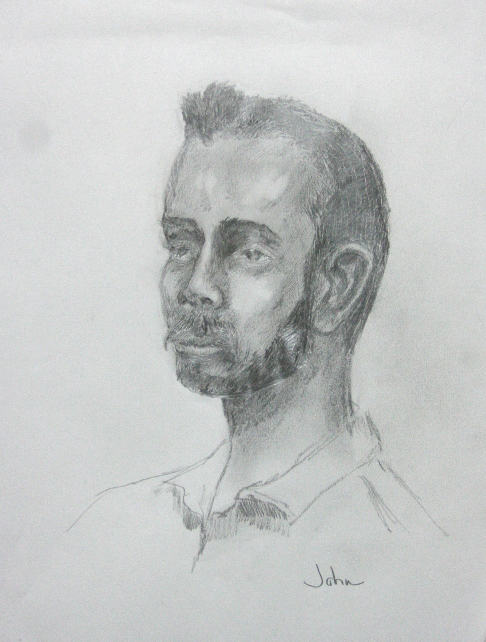 John R. Davis did this two hour drawing.