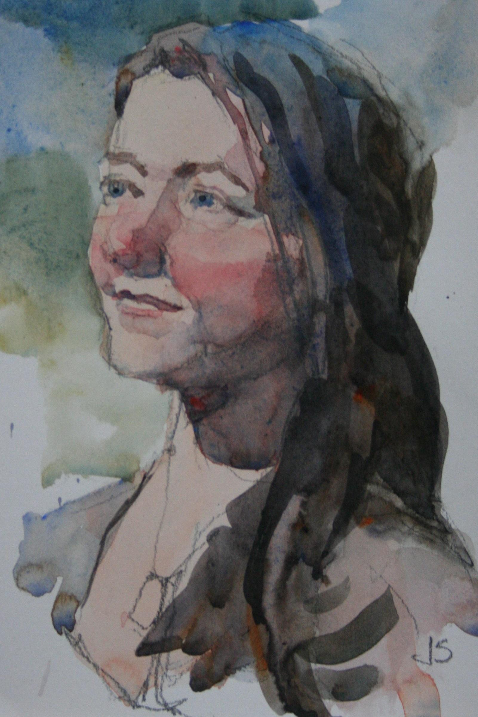 Jeff Suntala did this hour watercolor.