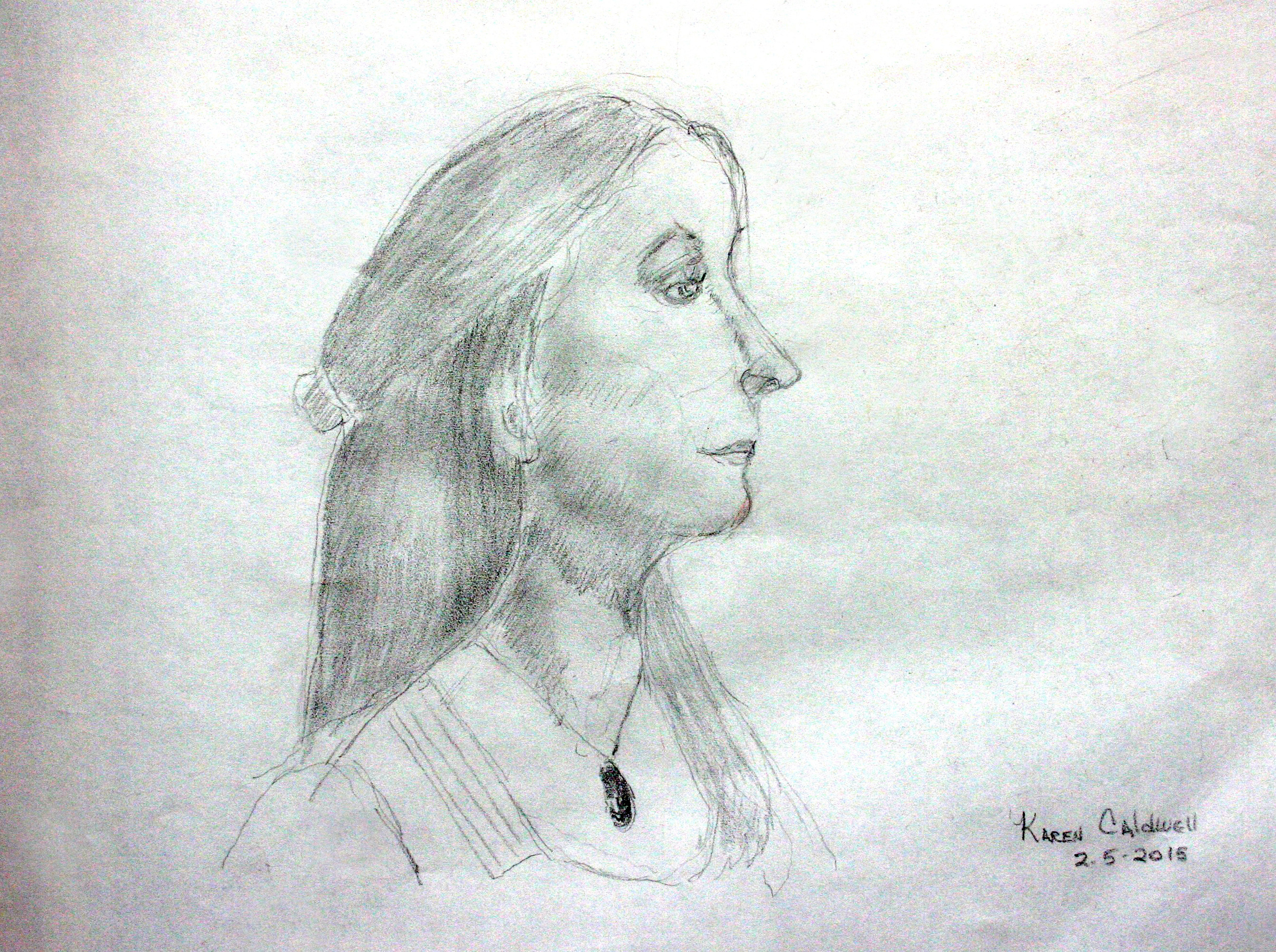 Karen Caldwell did this hour drawing .