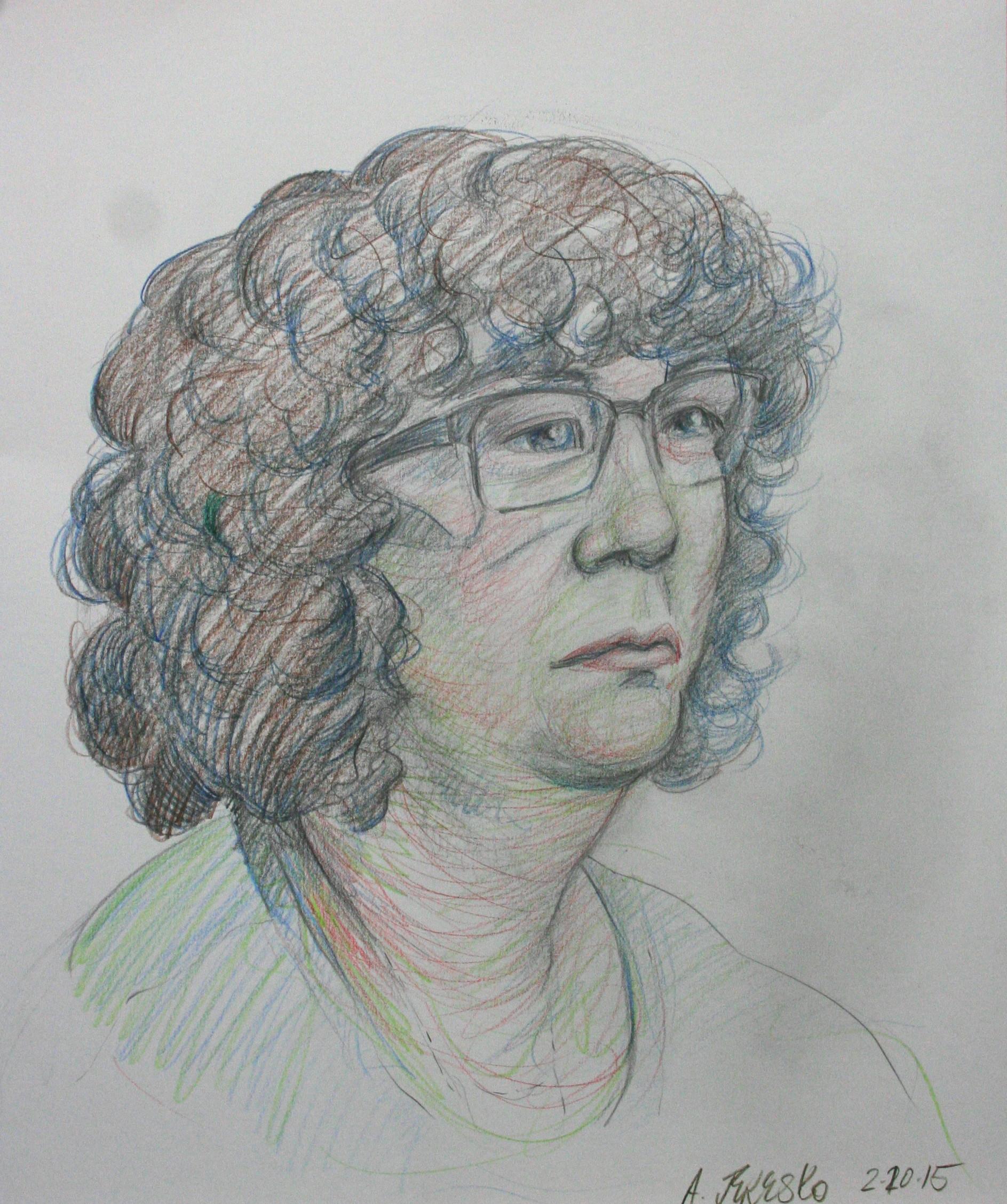 Alice Jeresko did this 3-hour drawing.
