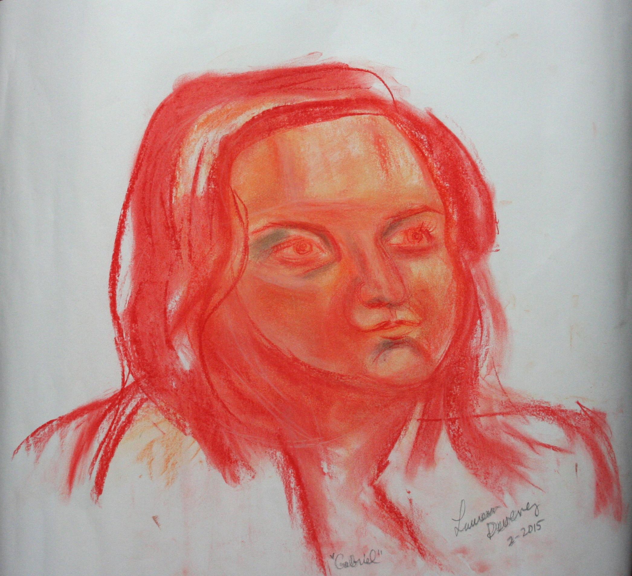 Laureen Deveney did this half hour drawing.