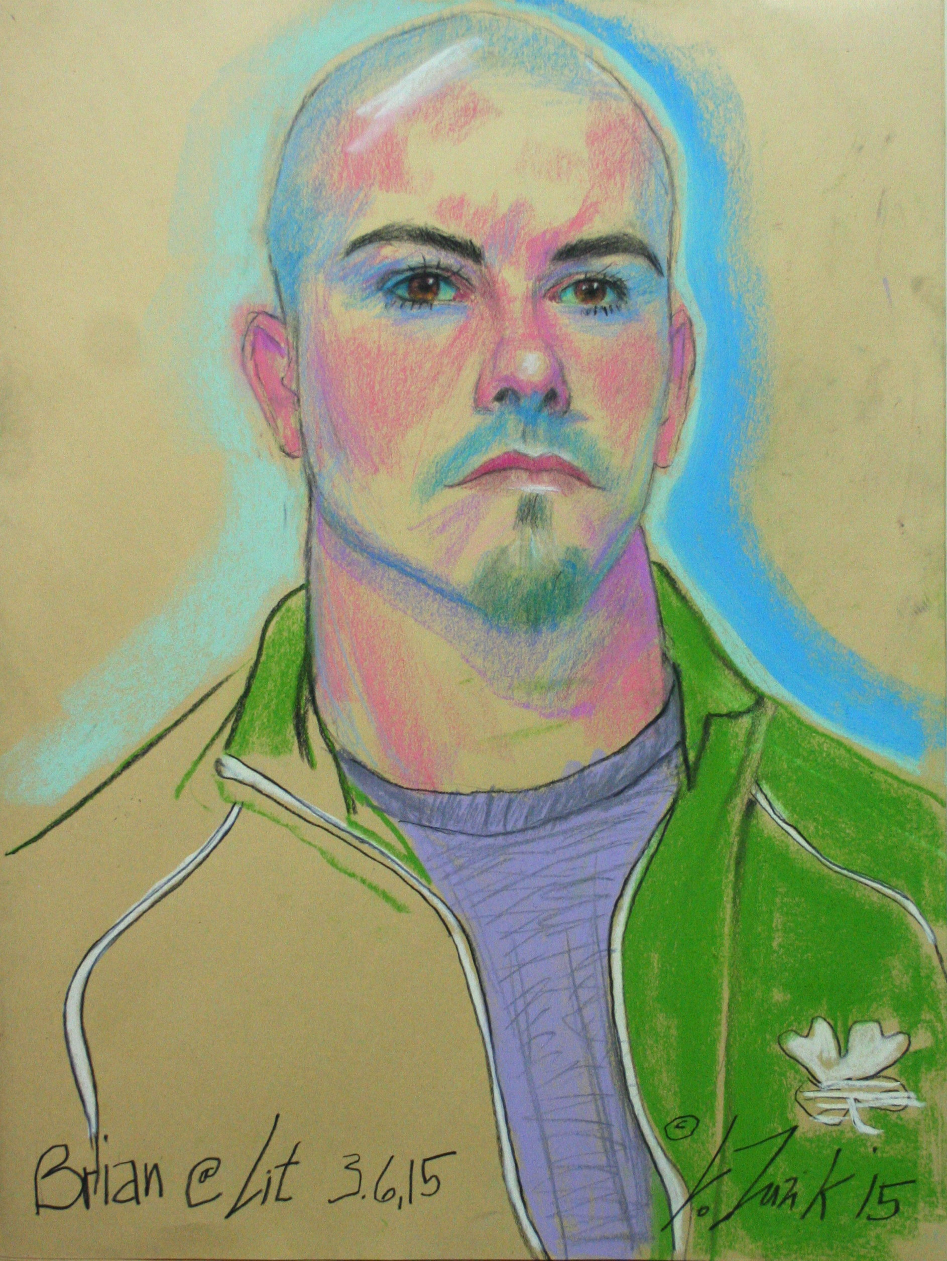 Larry Zuzik did this 2-hour pastel drawing.