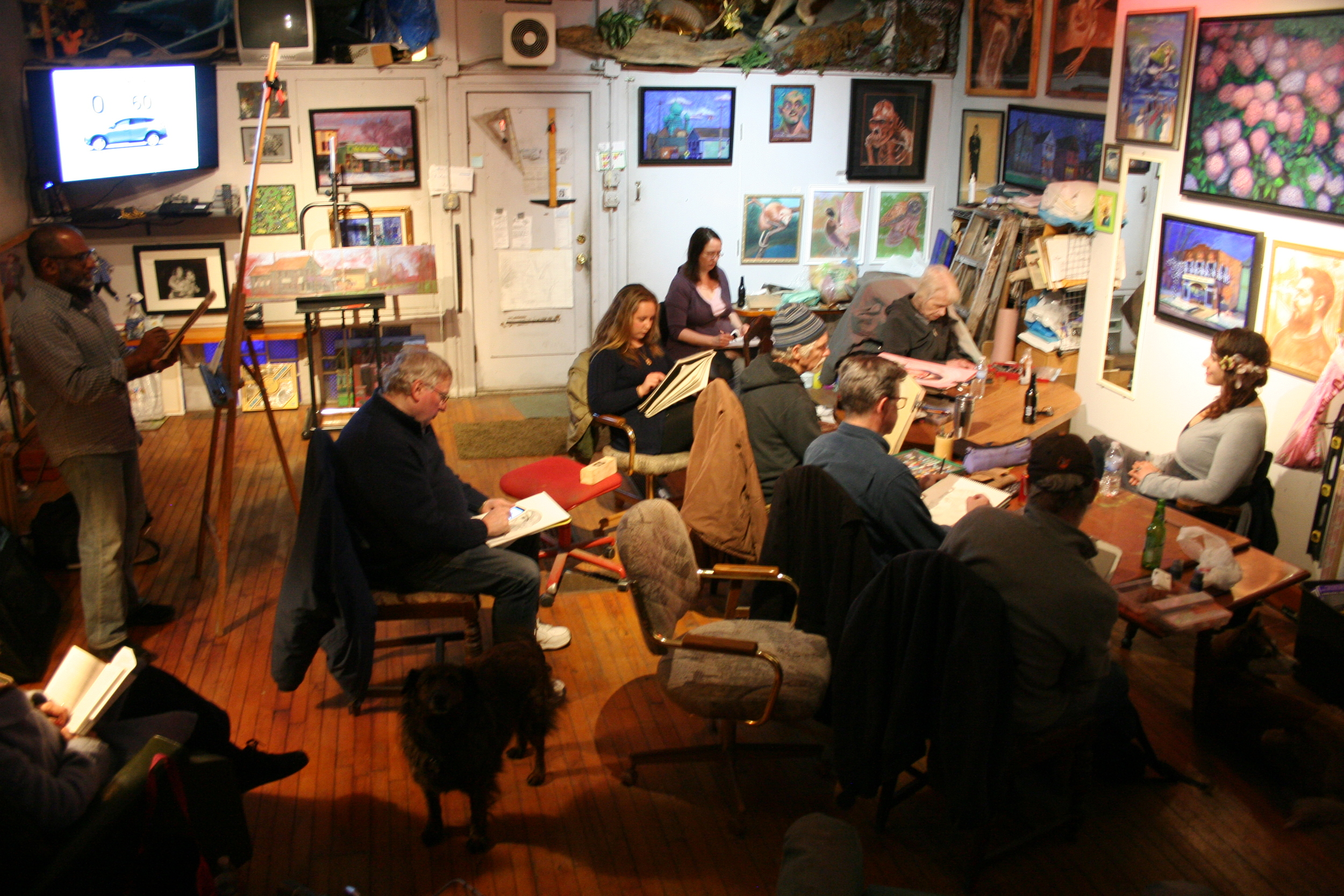On occasion when the Literary Cafe is closed we generally draw at Tim Herron's studio.