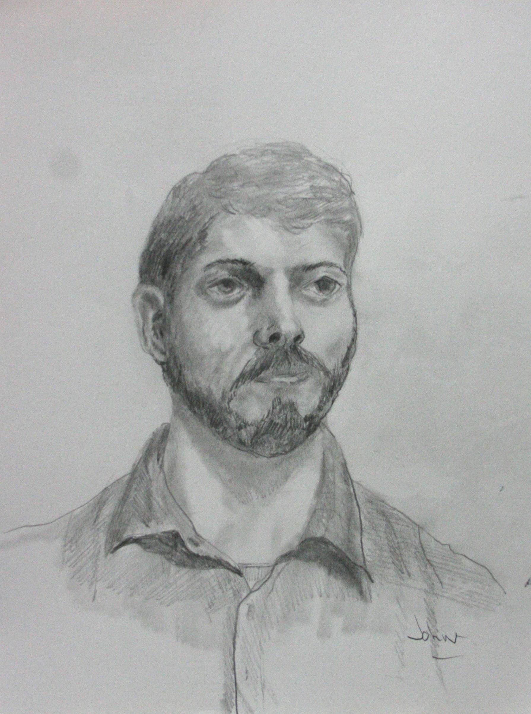 John R. Davis did this 2-hour drawing.