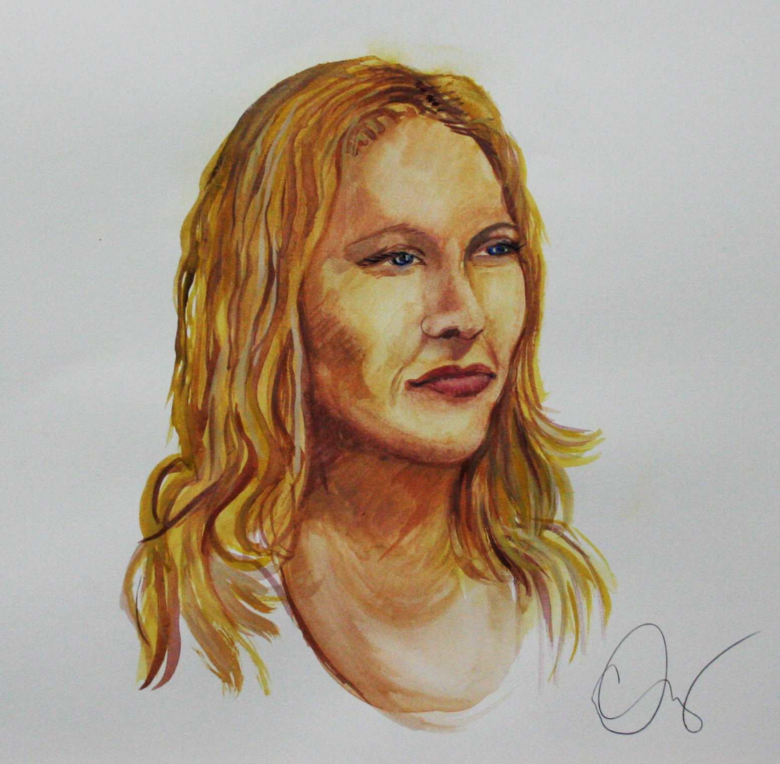 Casandra Dracup did this two hour watercolor.