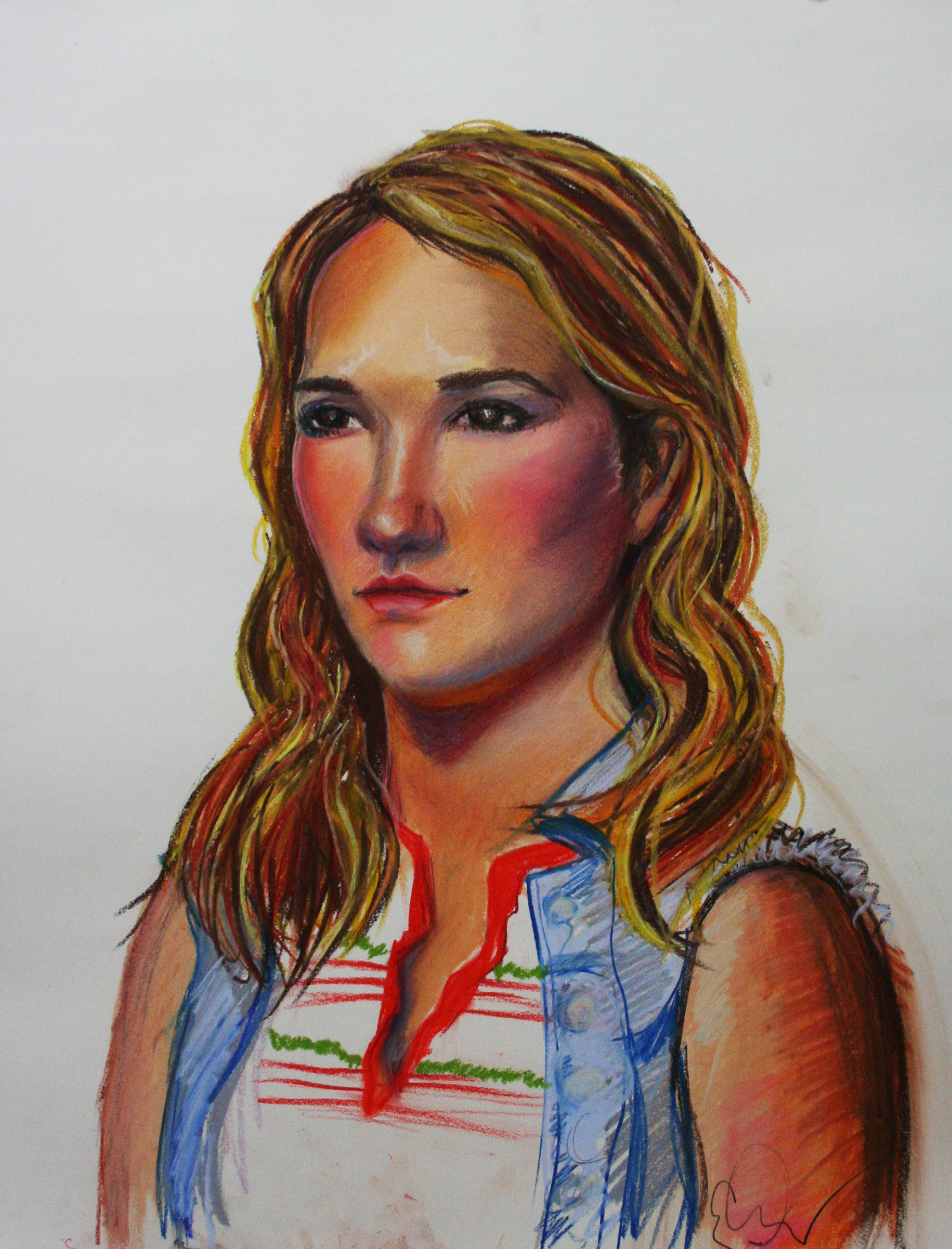 Casandra Dracup did this 3-hour pastel drawing.