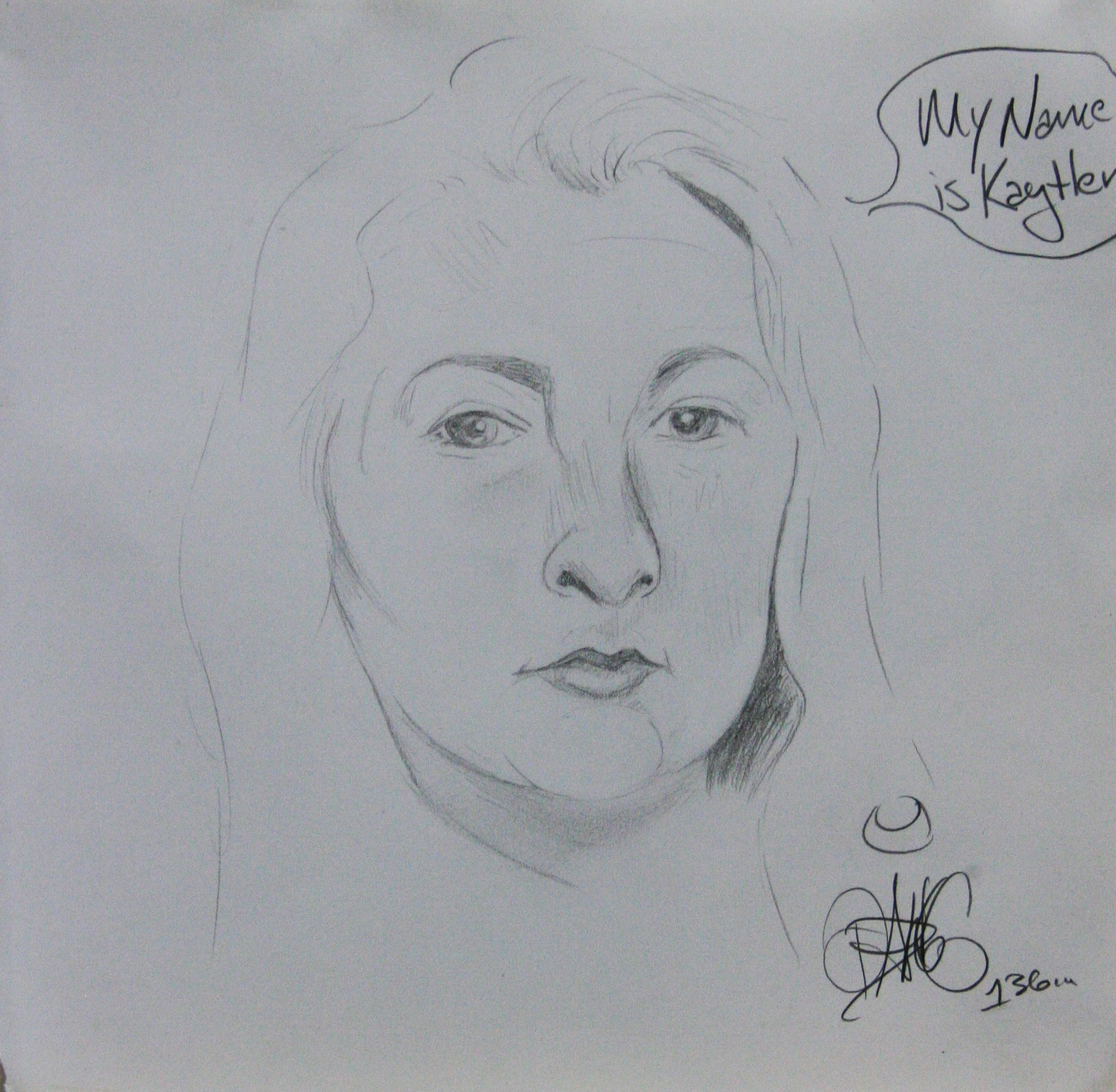 Meagan Cockley did this hour drawing .