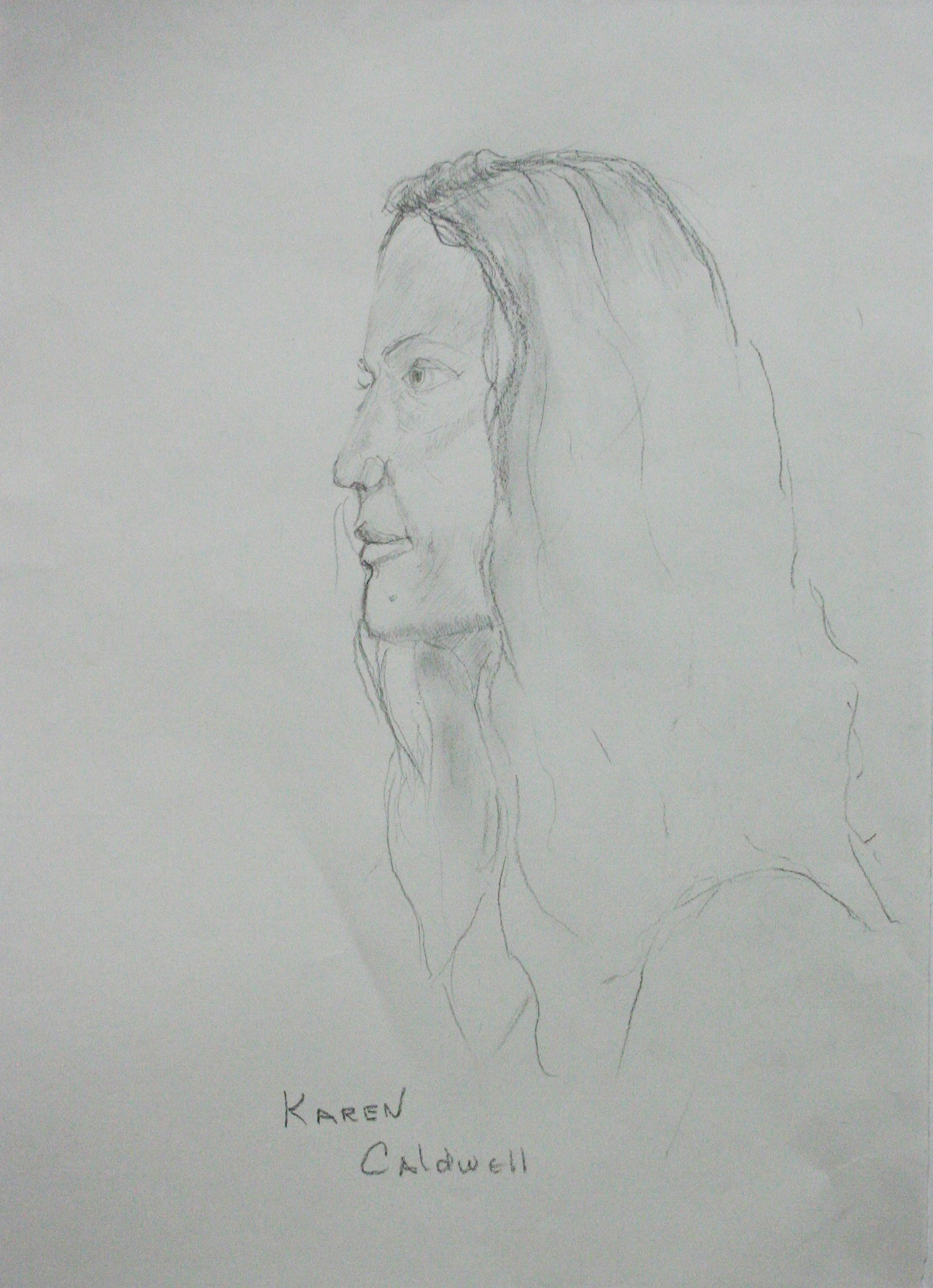 Karen Caldwell did this hour and a half drawing.