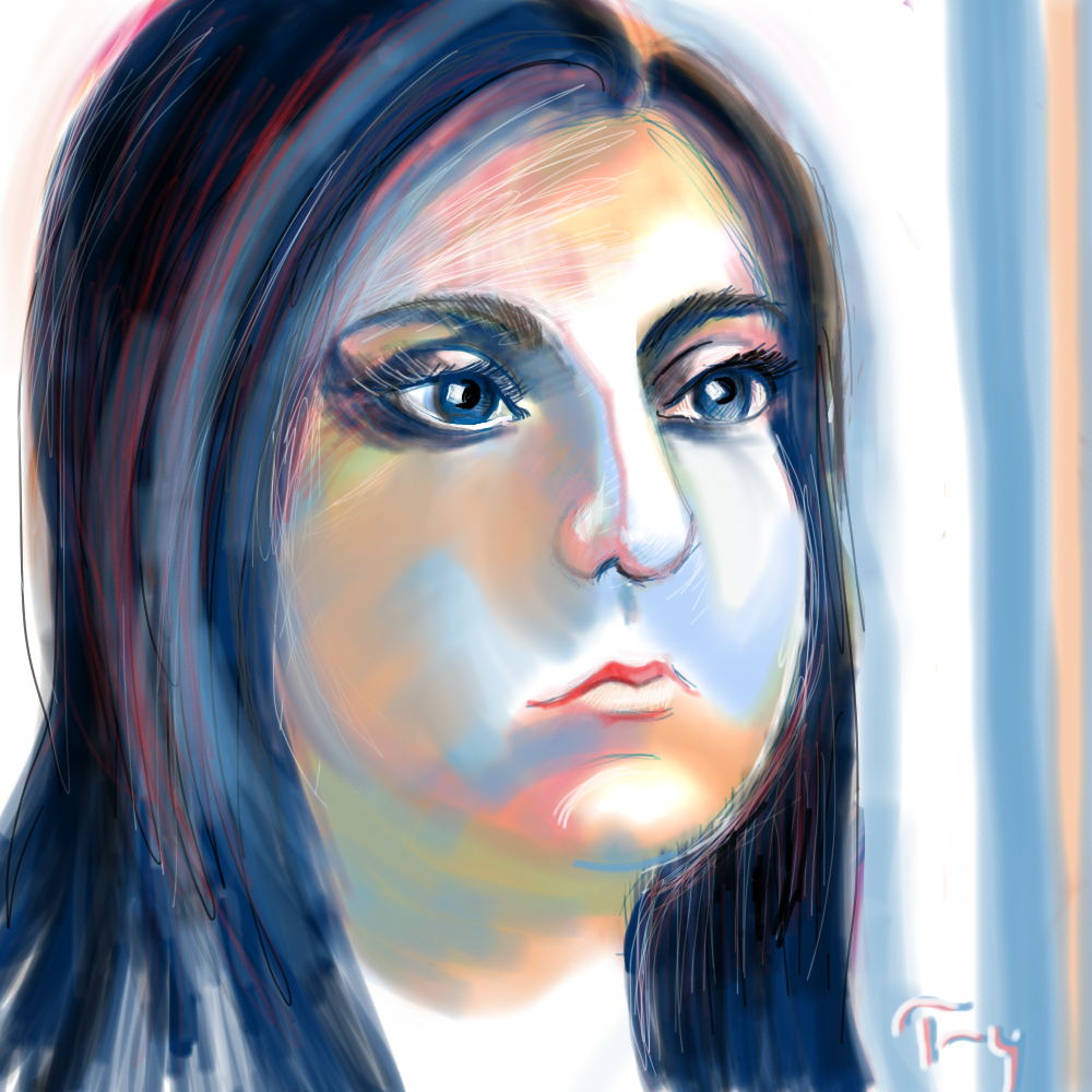 Terry Brown did this 2-hour I-pad drawing.