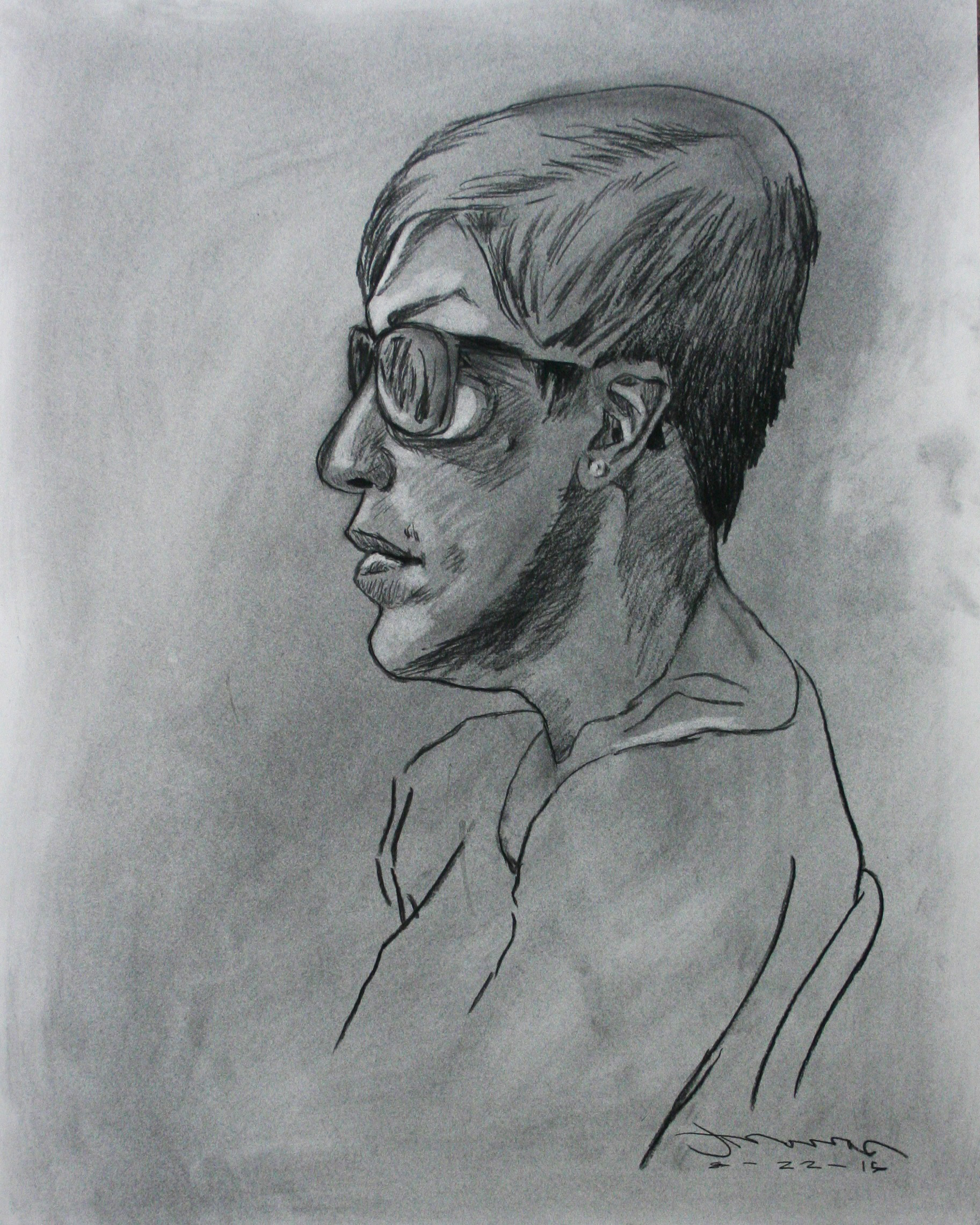 Jeanette Daphne Thomas did this half hour drawing.