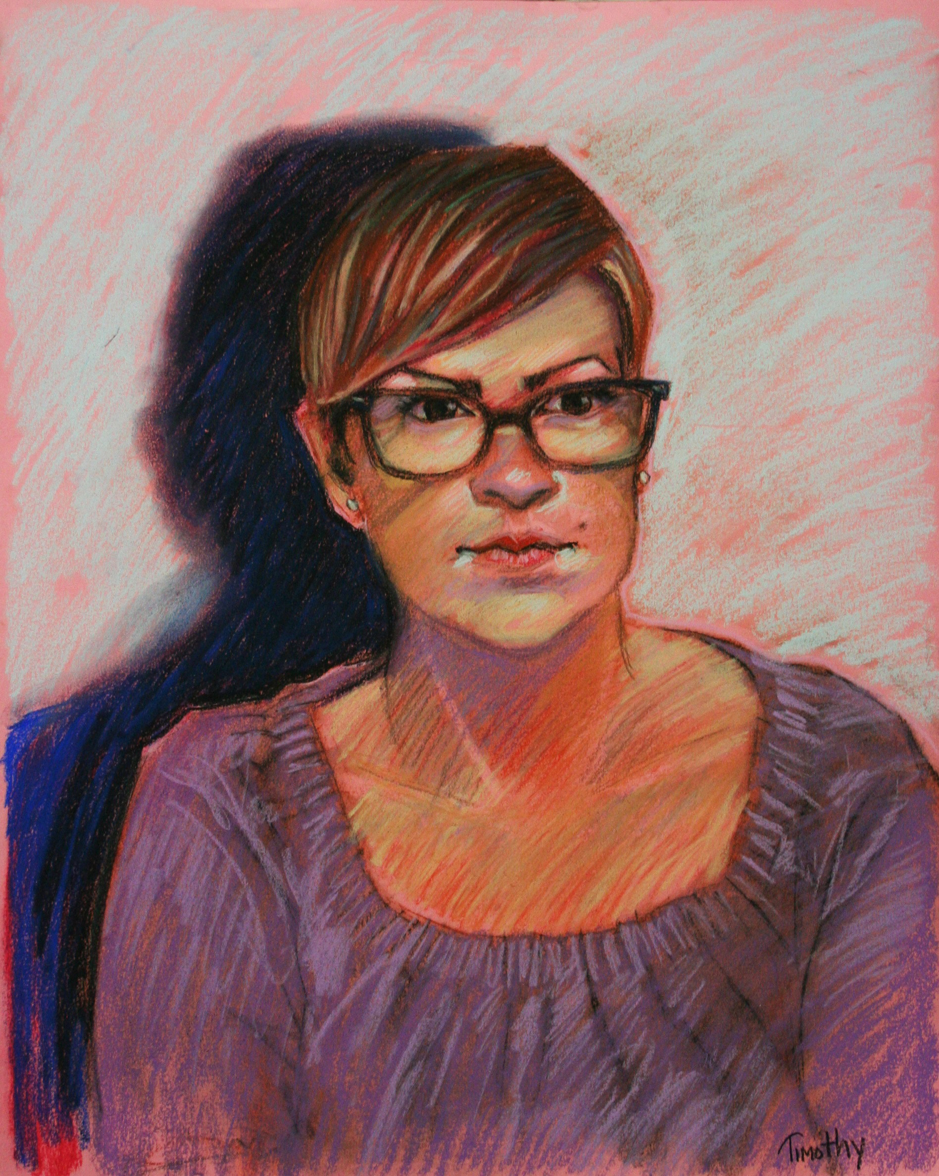 Timothy Herron did this 3-hour pastel drawing.