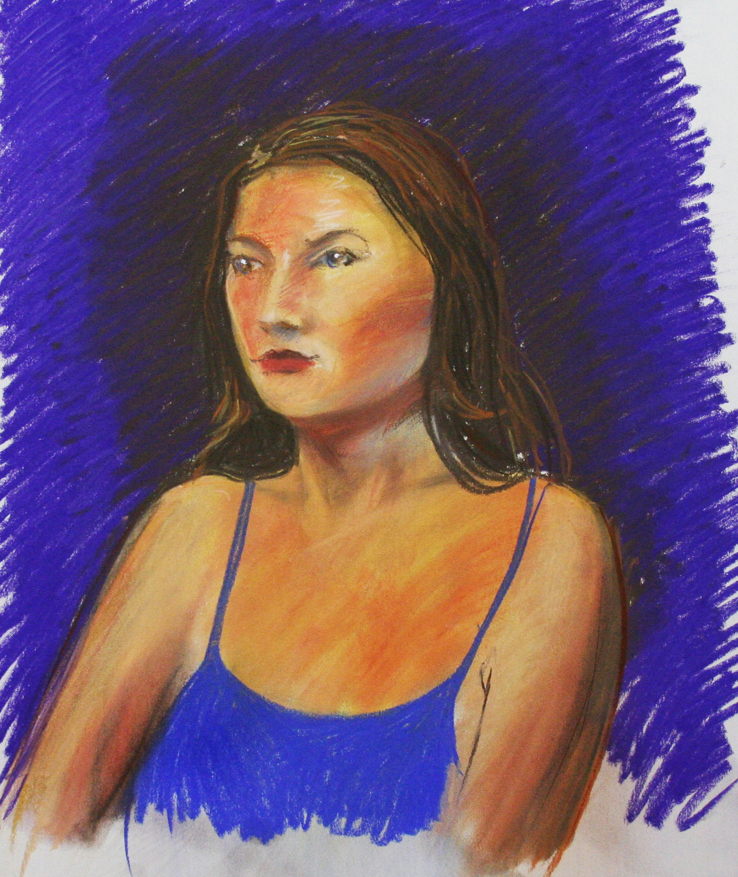 Casandra Dracup did this hour and a half pastel drawing.