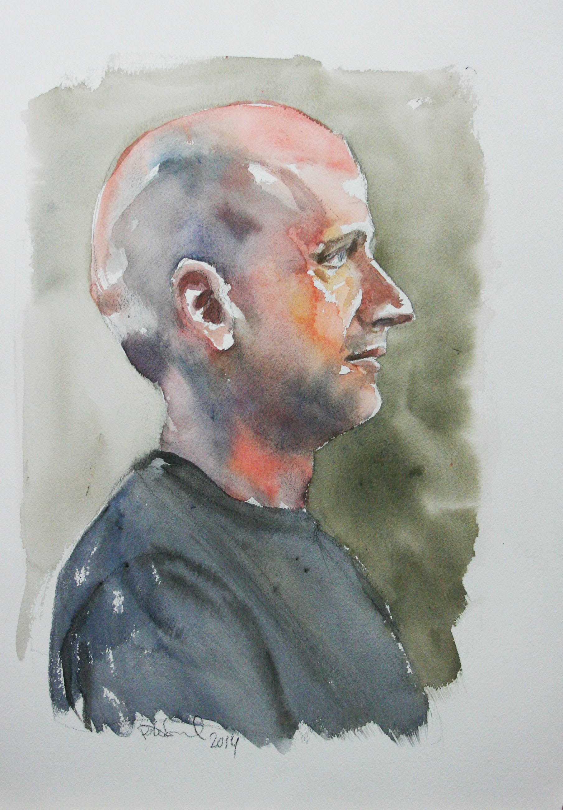 Peter Seward did this hour watercolor.