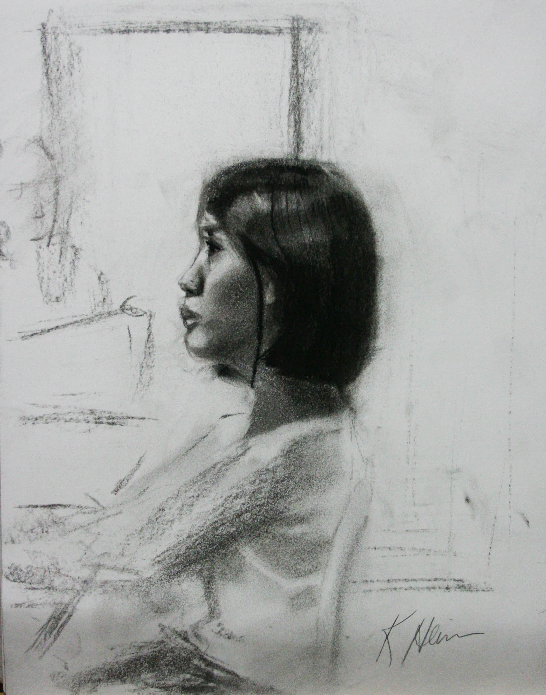 Kathryn Heim did this half hour sketch.