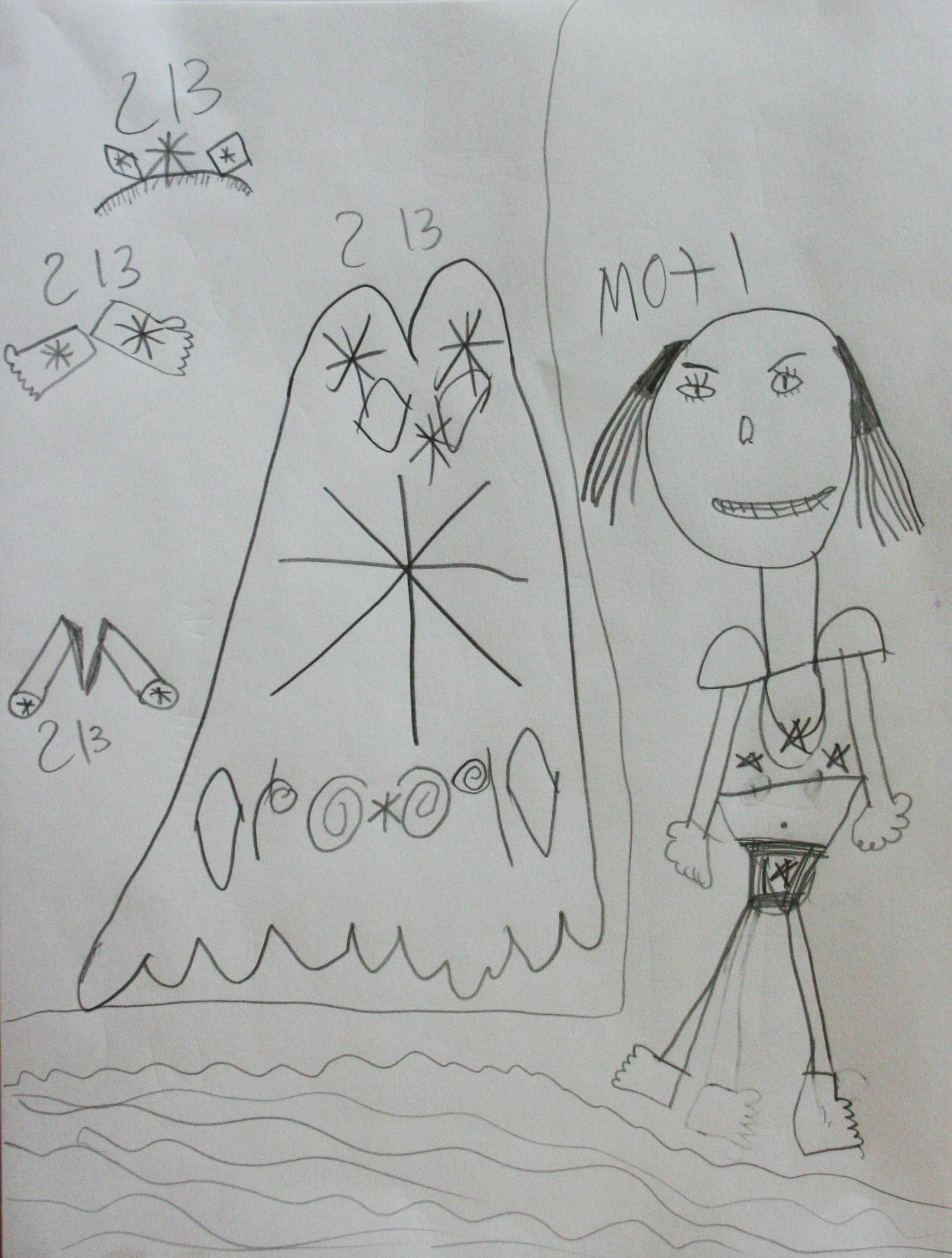 Drawing done by Ava that night.