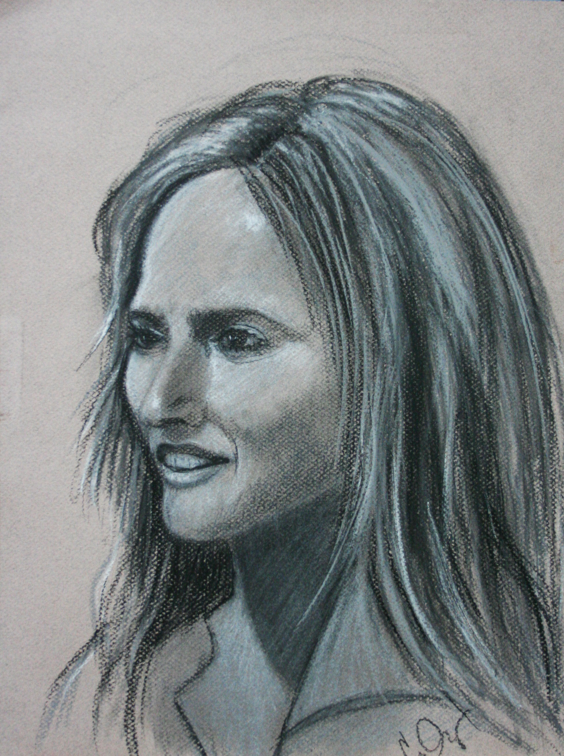Casandra Dracup did this 2-hour drawing.