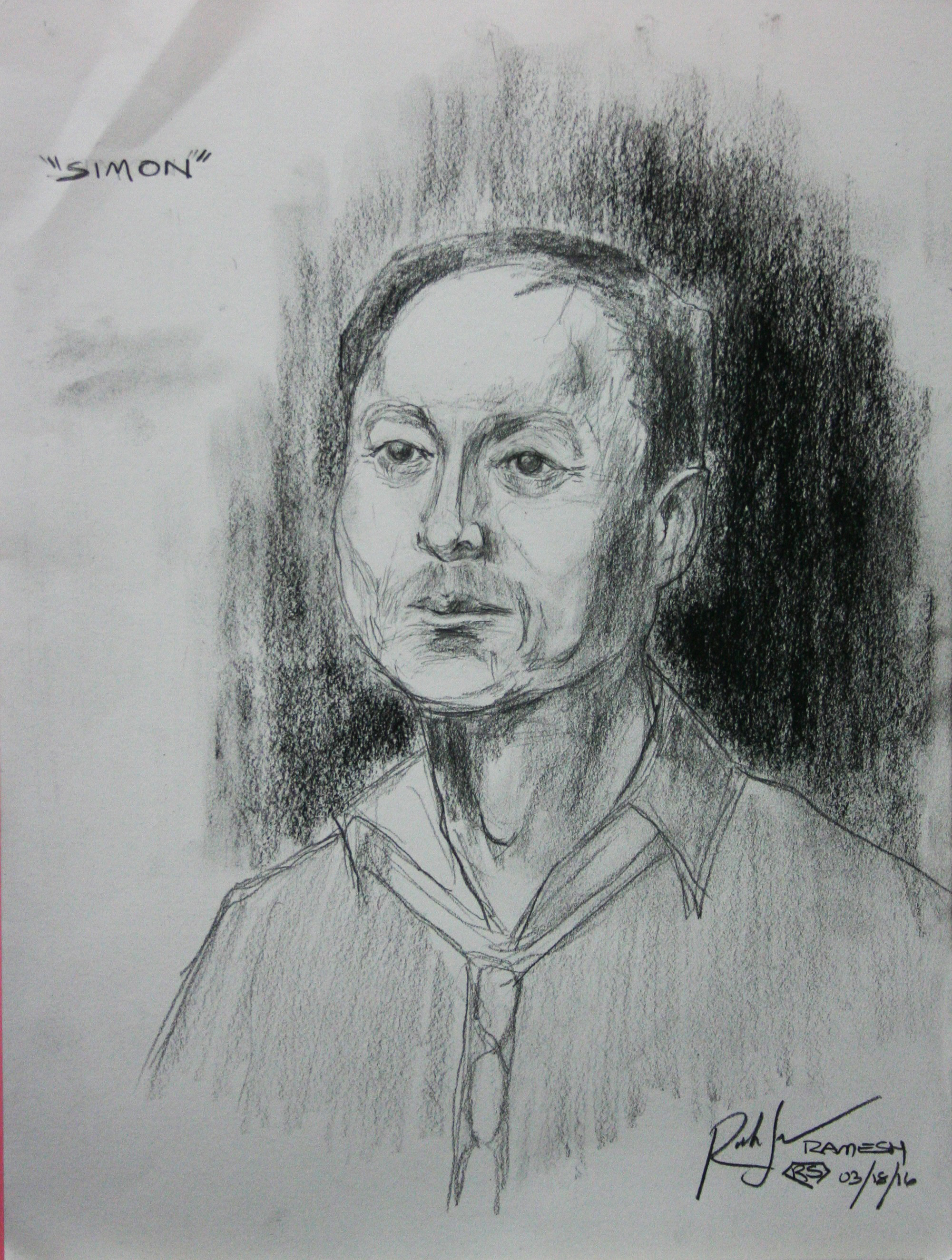 Ramesh Subramanium did this two hour drawing.
