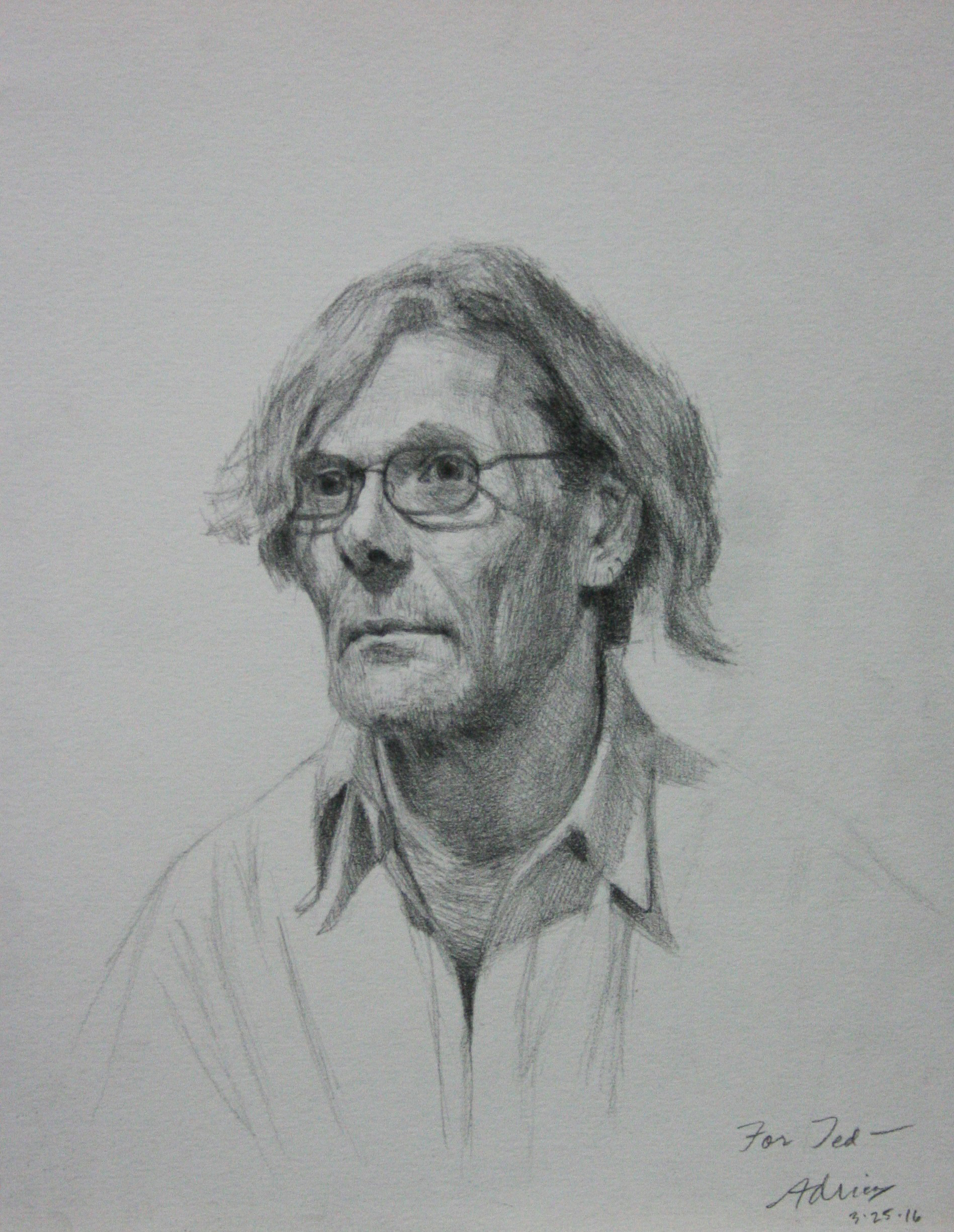 Adrian Eisenhower did this 3-hour drawing.