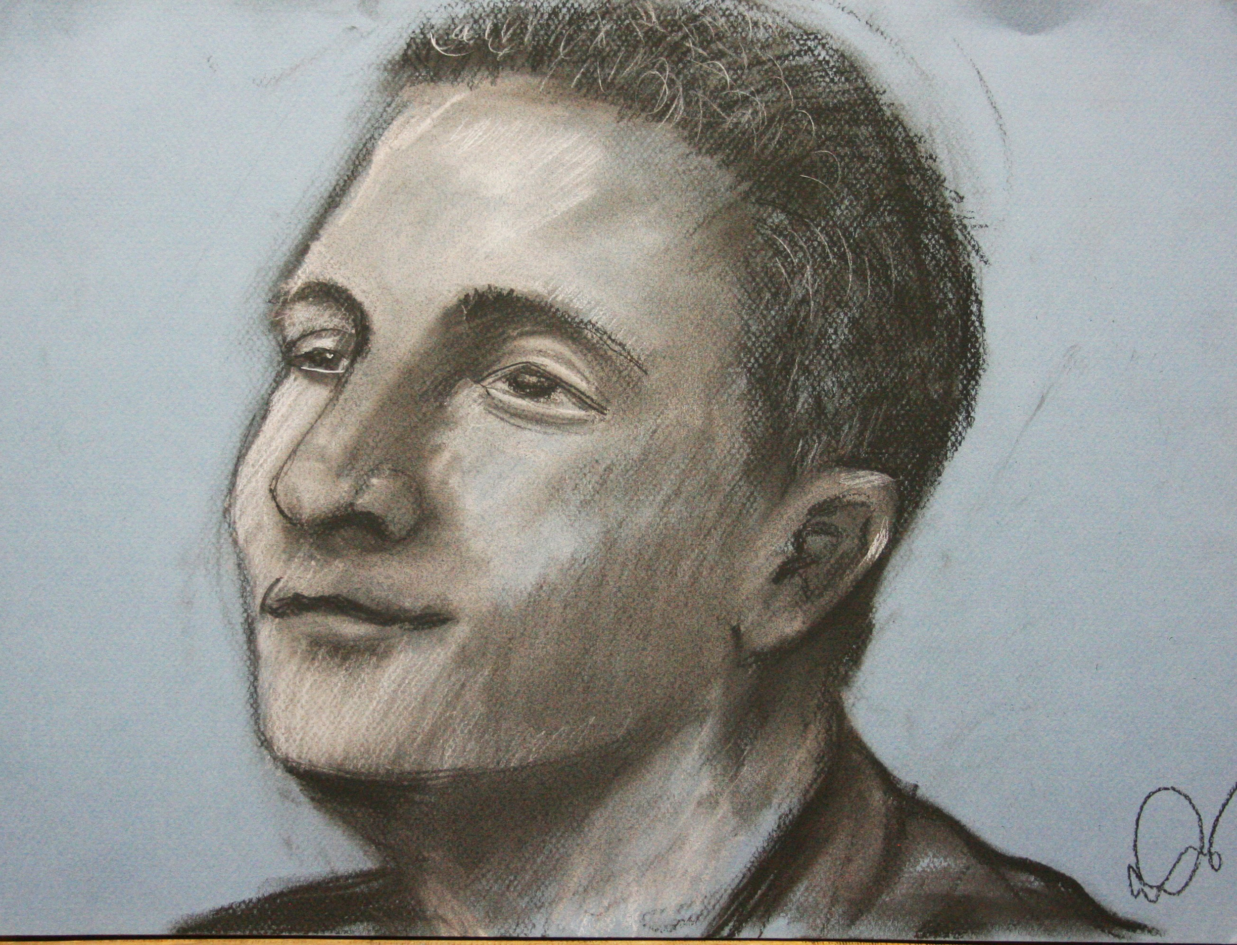Casandra Dracup did this hour pastel drawing.