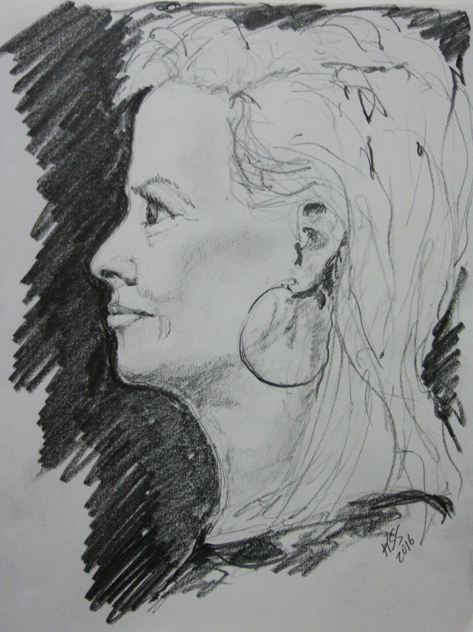 Katherine Stokes-Shafer did this half hour drawing.