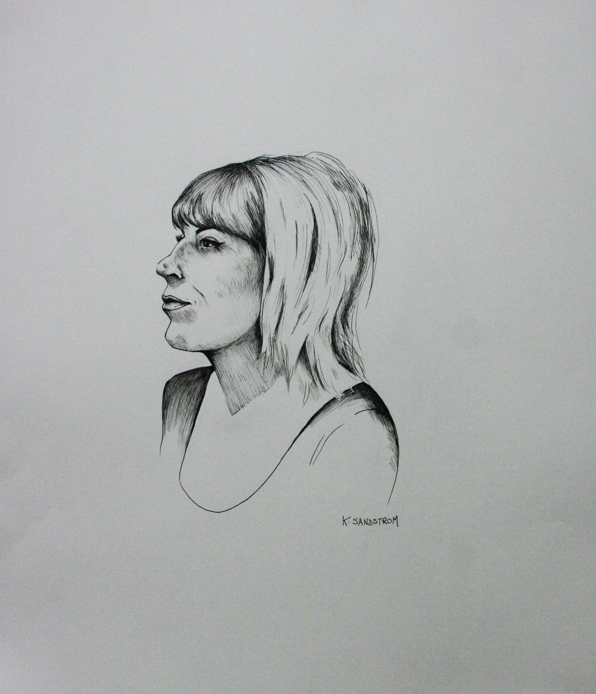 Karen Sandstrom did this 3-hour drawing.