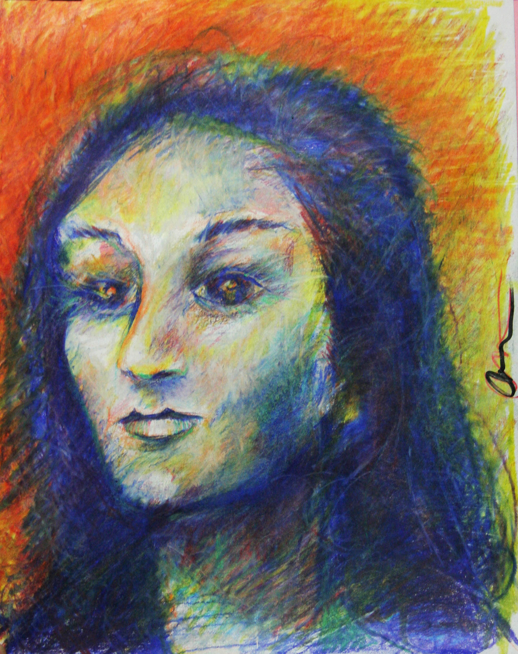Donald Wash did this 2-hour pastel drawing.