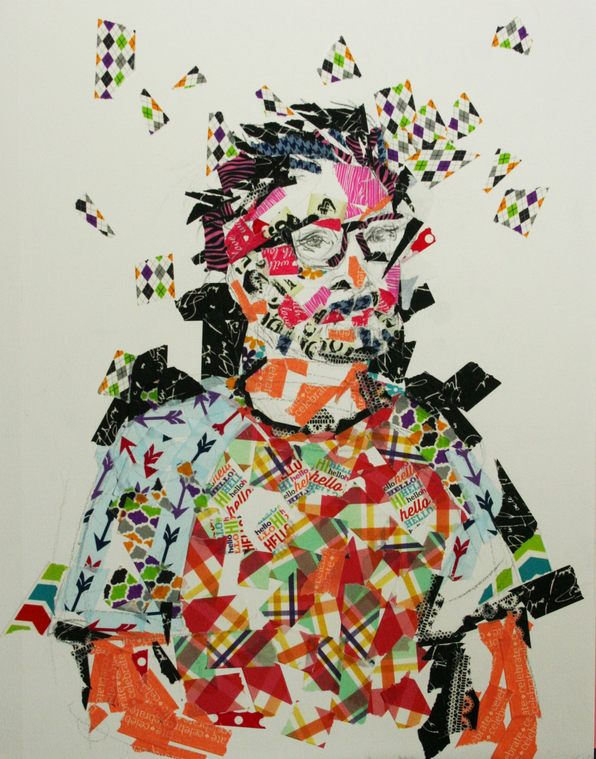 Aleksandra Vandenhove created this hour and a half sticker portrait