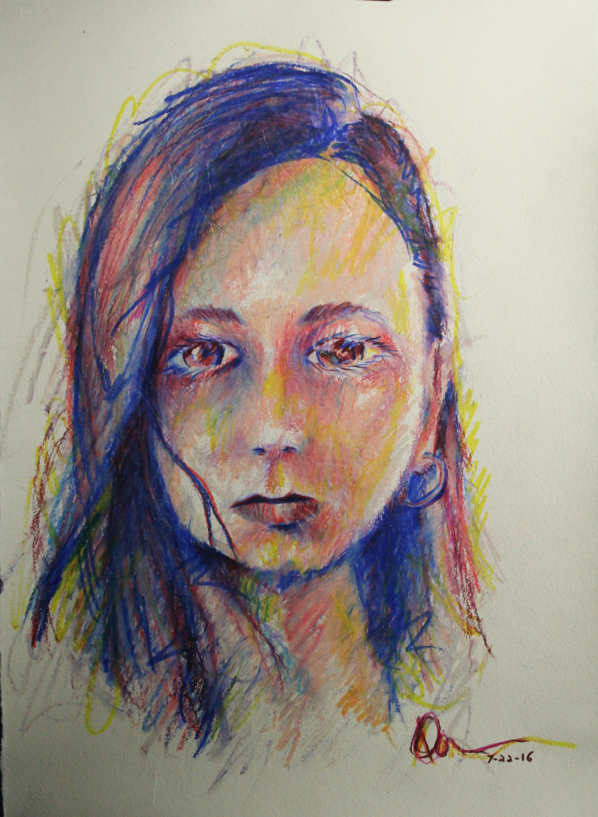 Donald Wash did this hour and a half pastel drawing.