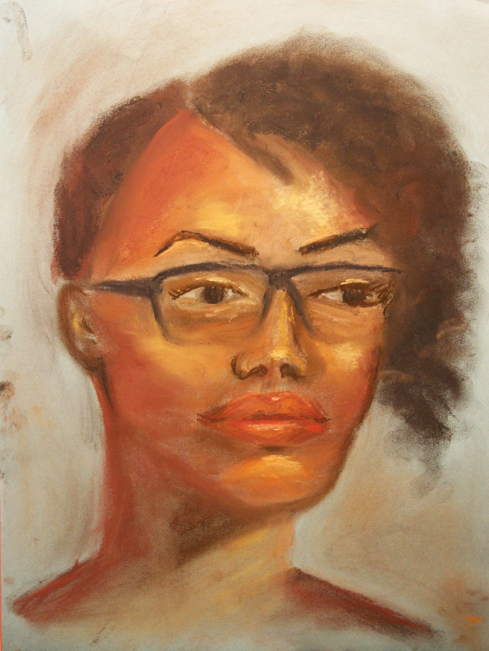 Michelle Leyden Nguyen did this hour pastel drawing.