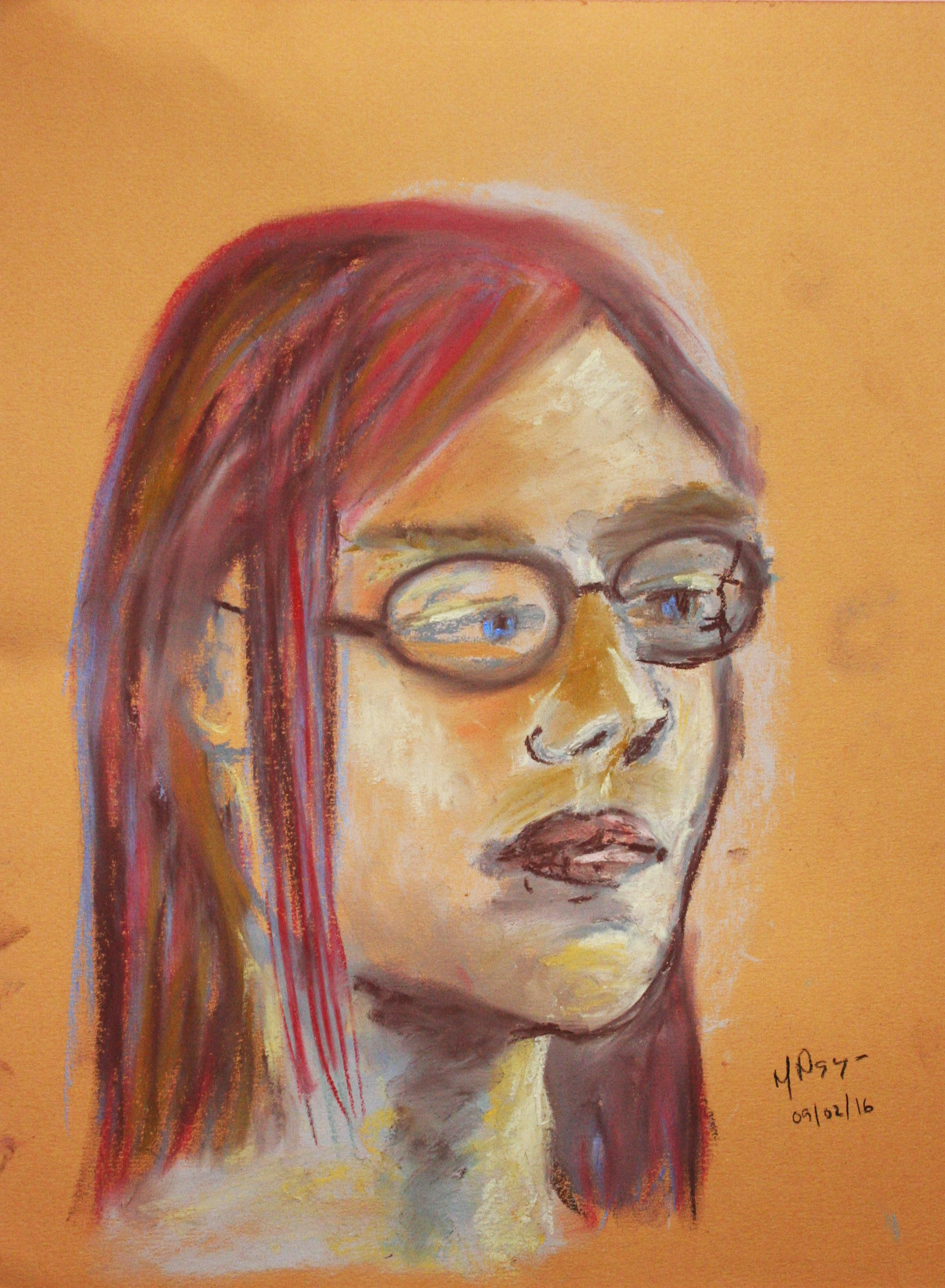 Michelle Leyden Nguyen did this 2-hour pastel drawing.