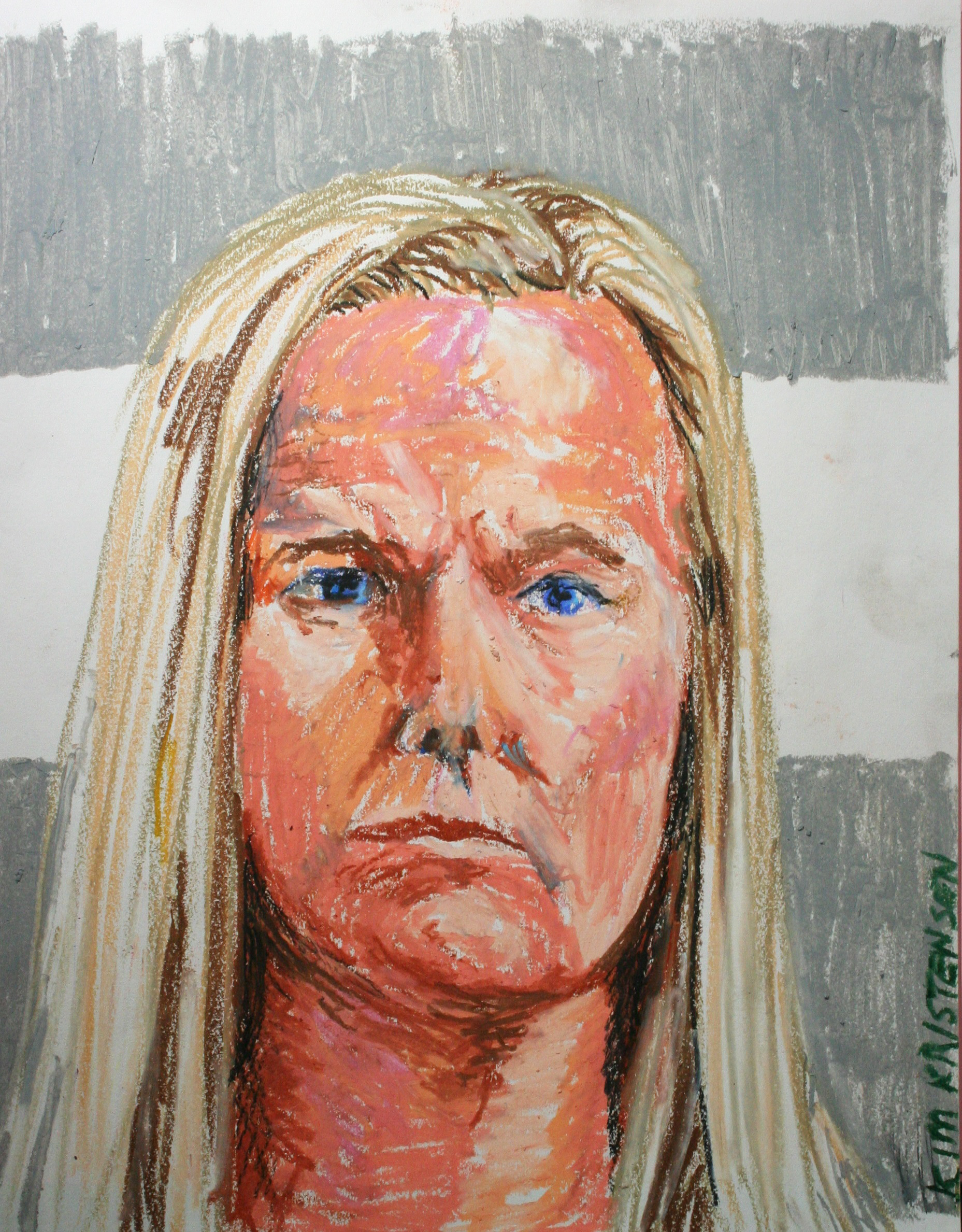 Kim Kristensen did this 2-hour pastel drawing.