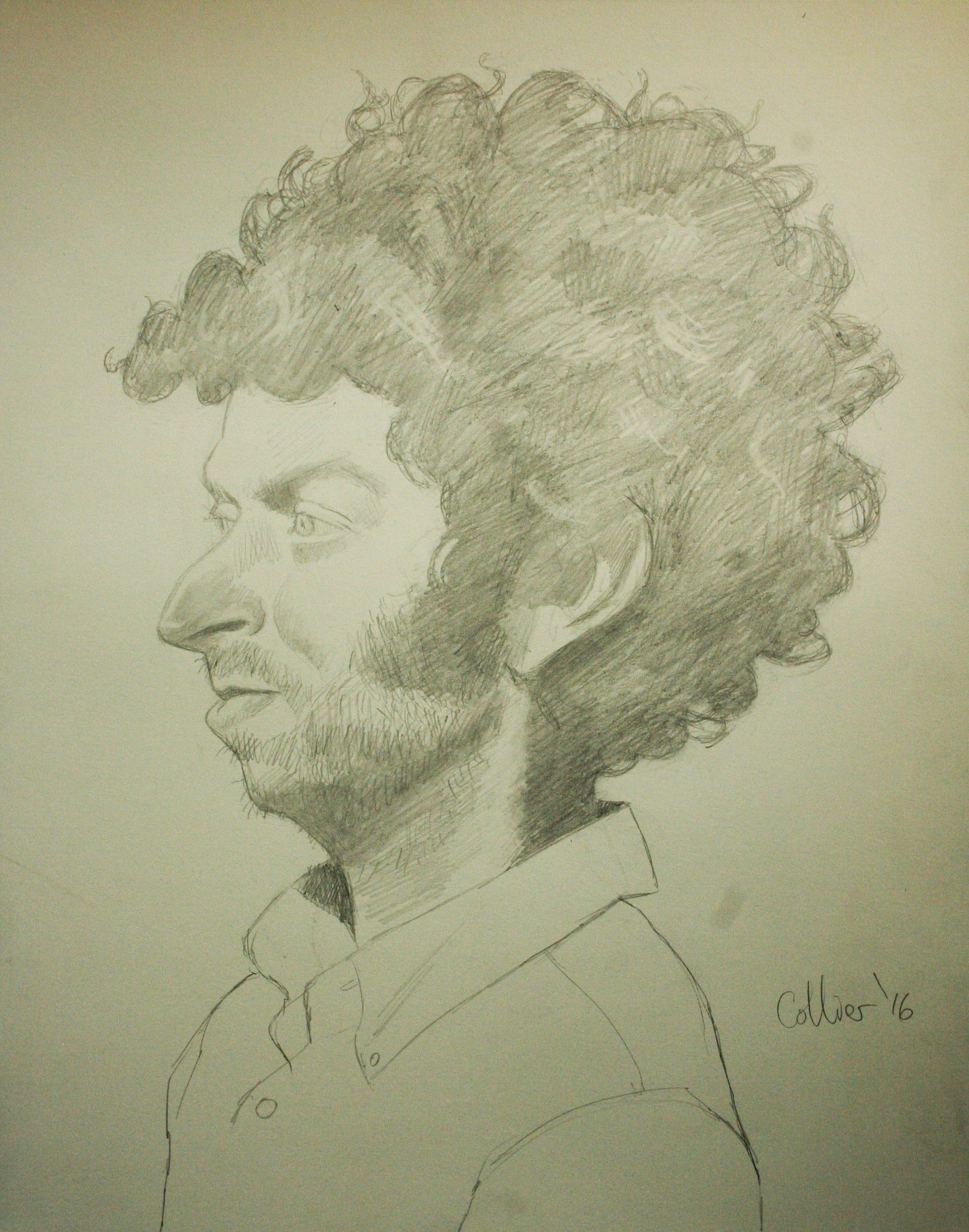 Howard Collier did this hour and a half caricature.