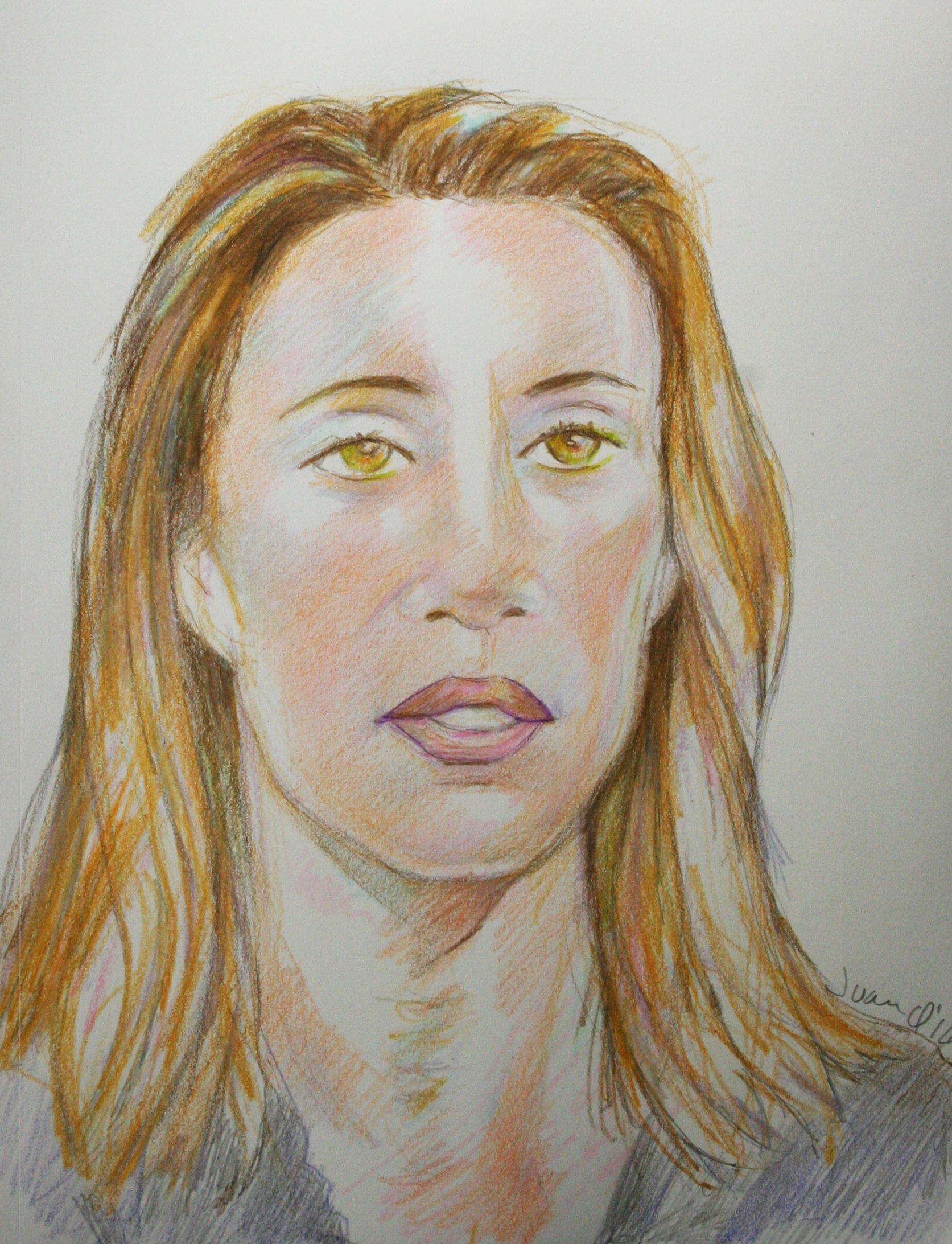 Juan Quirarte did this 3-hour colored pencil drawing.