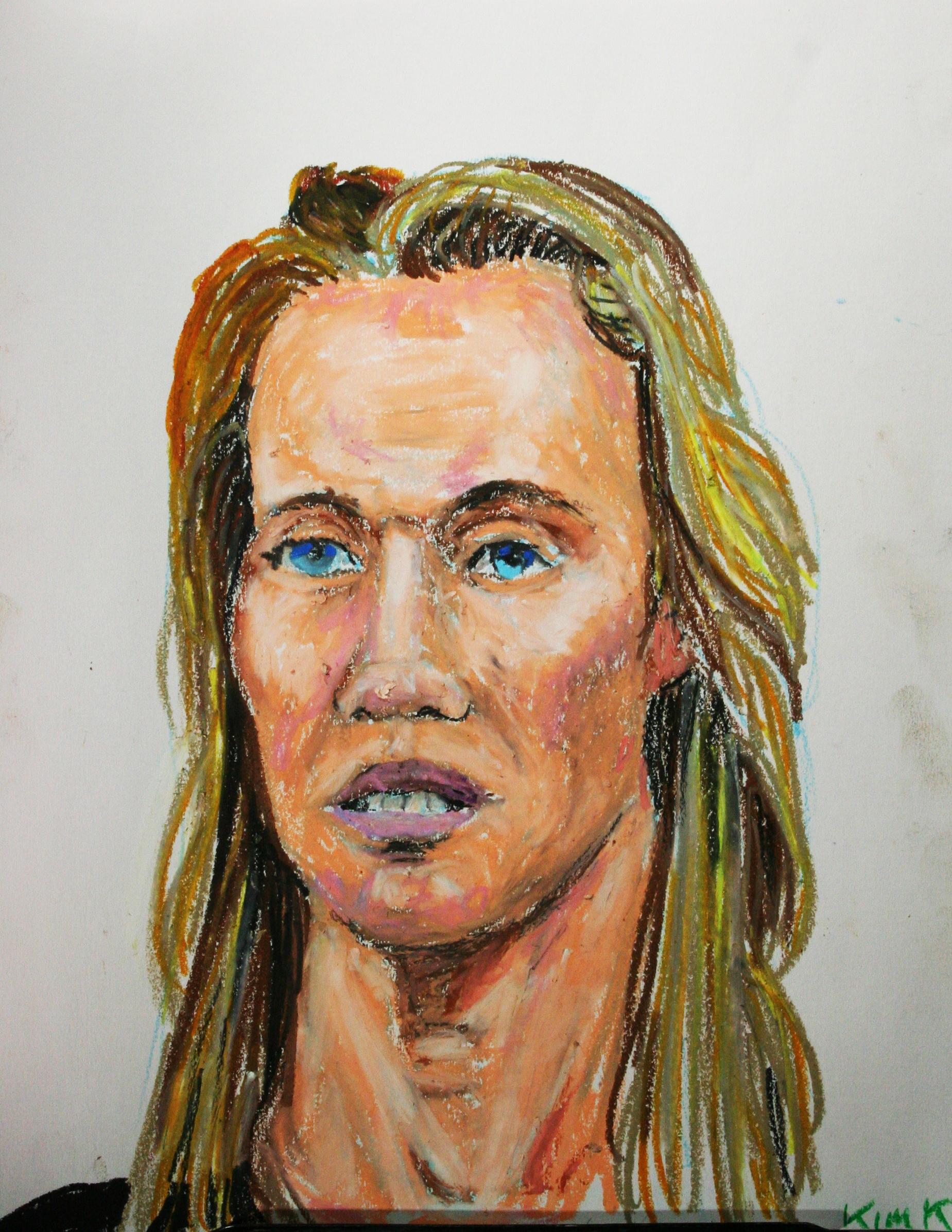 Kris Kristensen did this two hour pastel drawing.