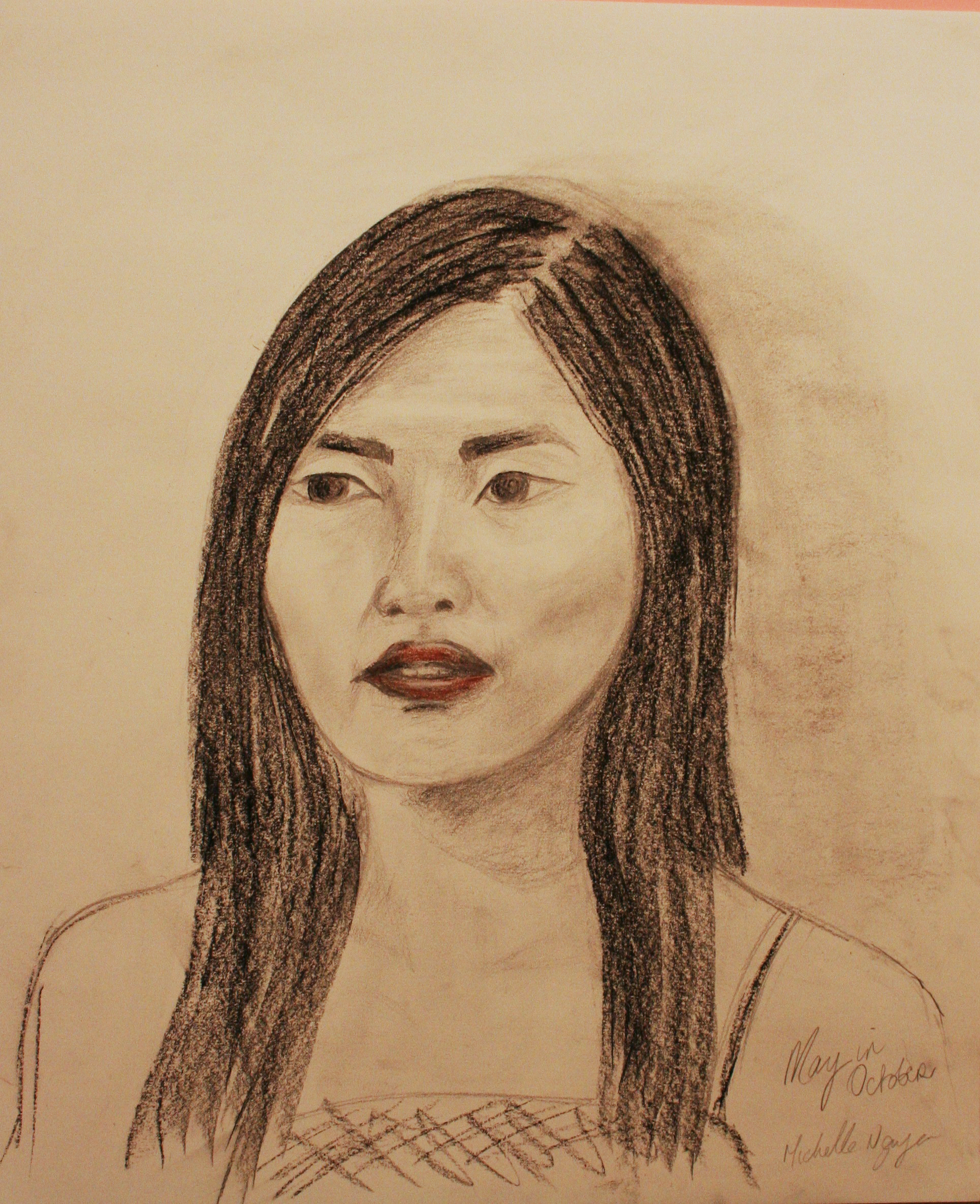 Michelle Leyden Nguyen did this 2-hour drawing.