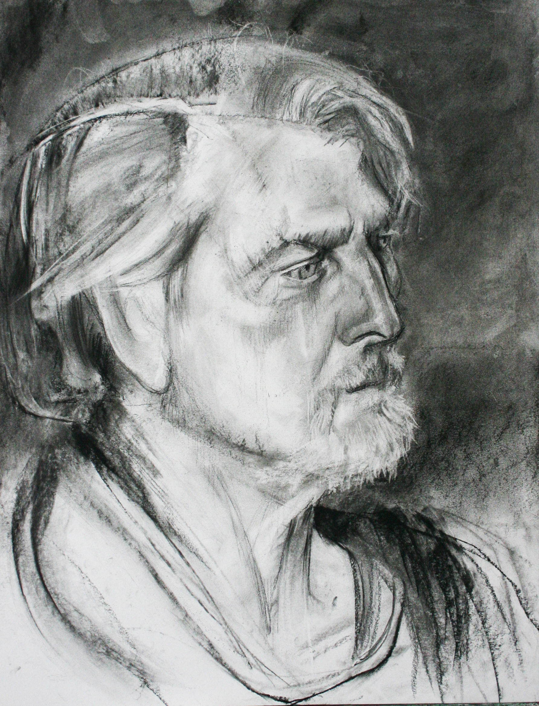 Ed Pepera did this 3-hour drawing.