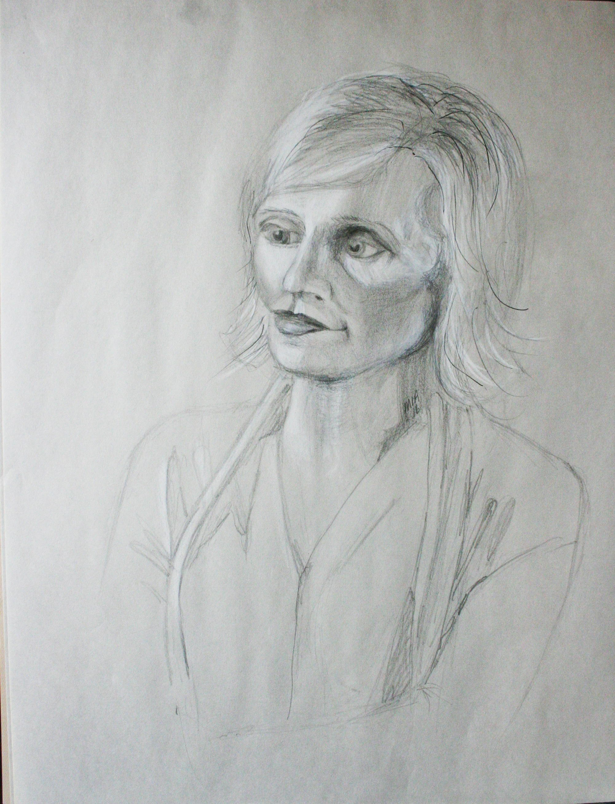 Maria Polk did this 3-hour drawing.