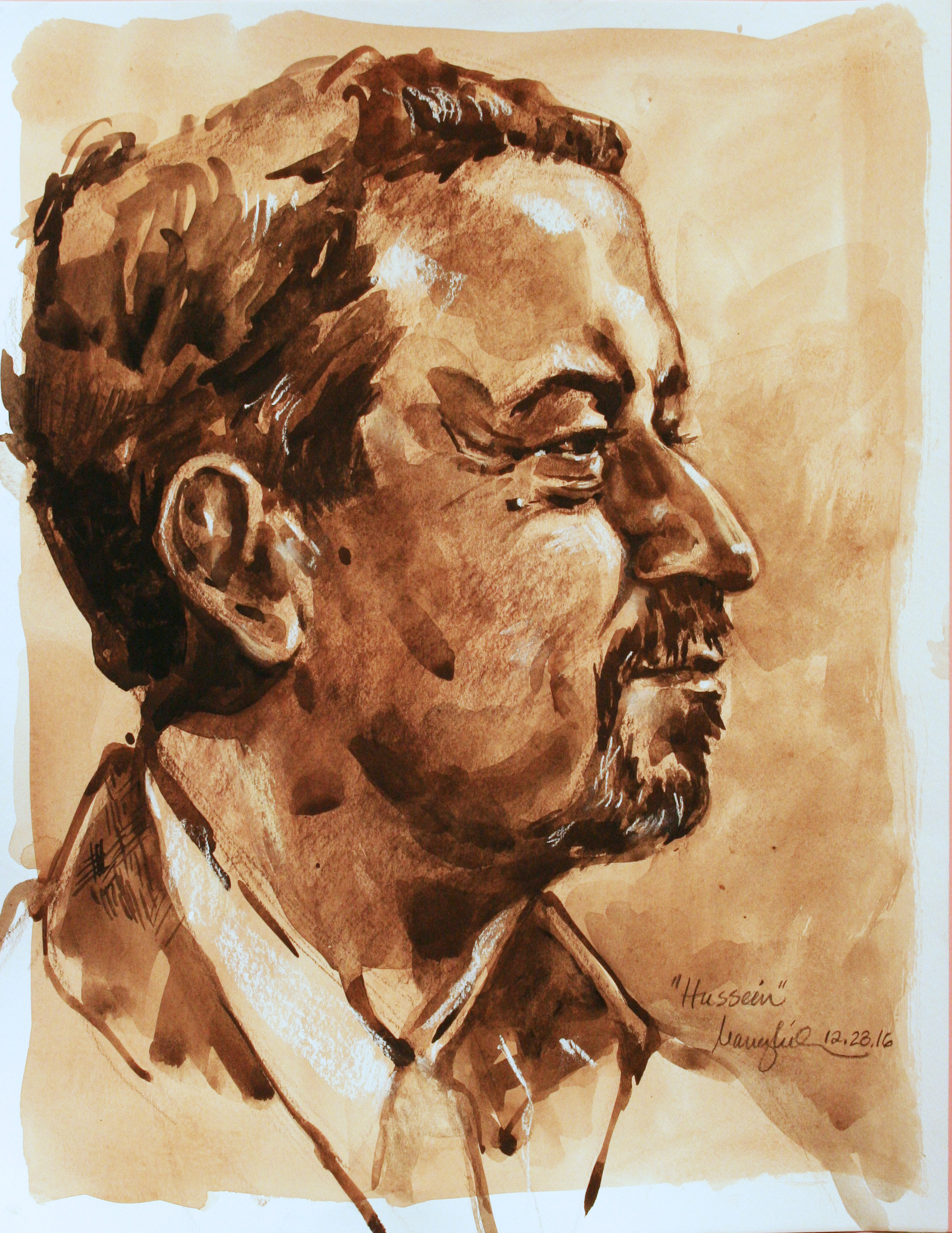 Nancy Lick did this 3-hour gouache and conte drawing.