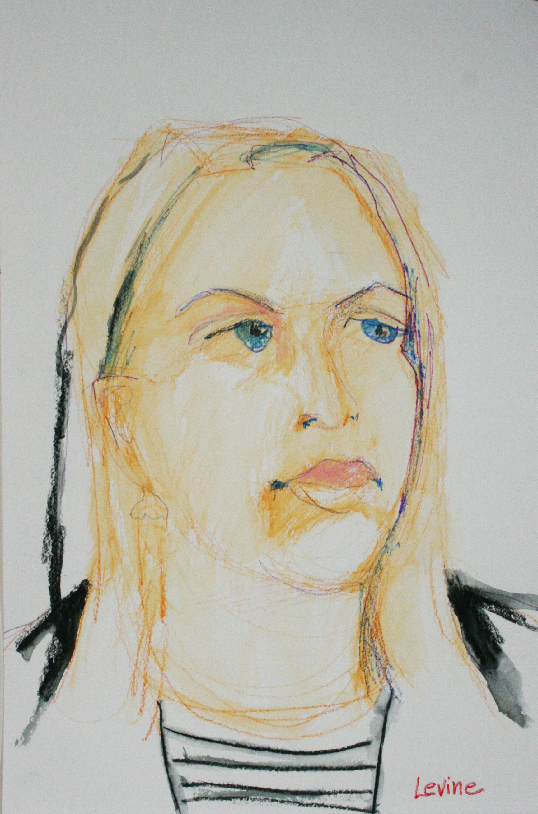 Phyllis Peterson Levine did this 3-hour watercolor pencil drawing.
