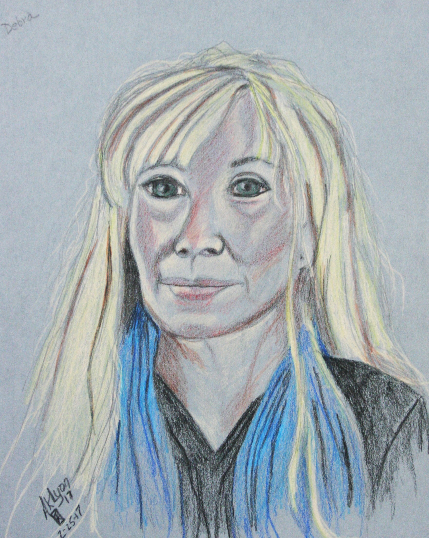 Anne Lyon did this 3-hour pastel drawing.