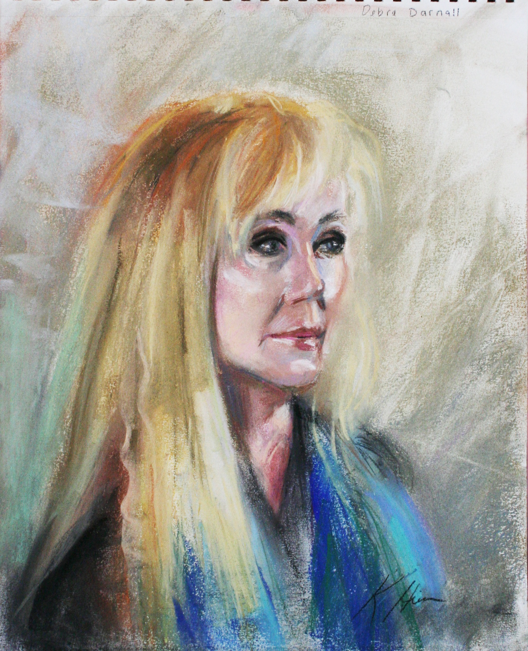 Kathryn Heim did this 3-hour pastel drawing.